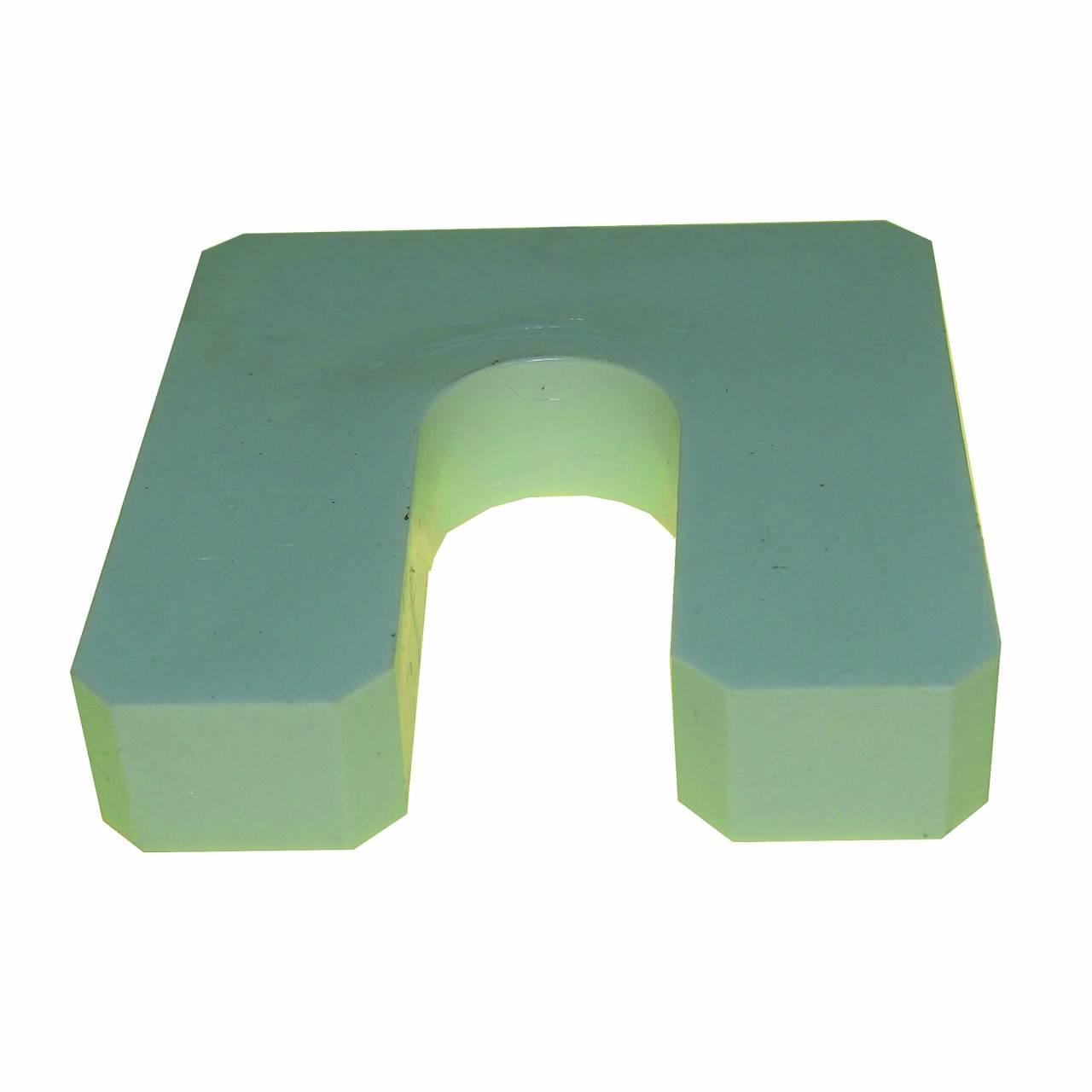 Montageplatten 70 x 70 x 10 mm, mit Schlitz / Sack a 300 Stück