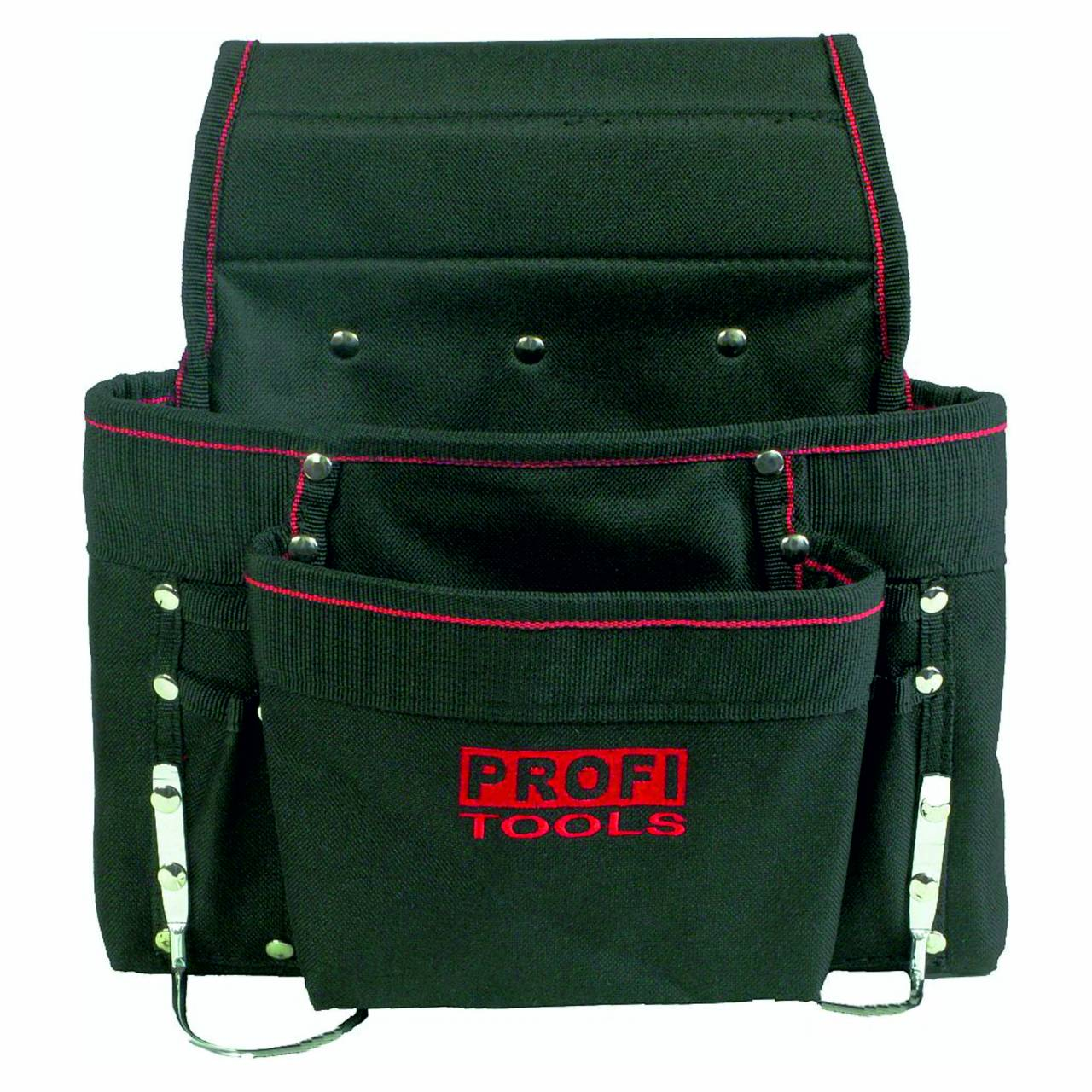 Nagel- / Werkzeugtasche, Polyester, schwarz, 8 Fächer, 2 Bügel