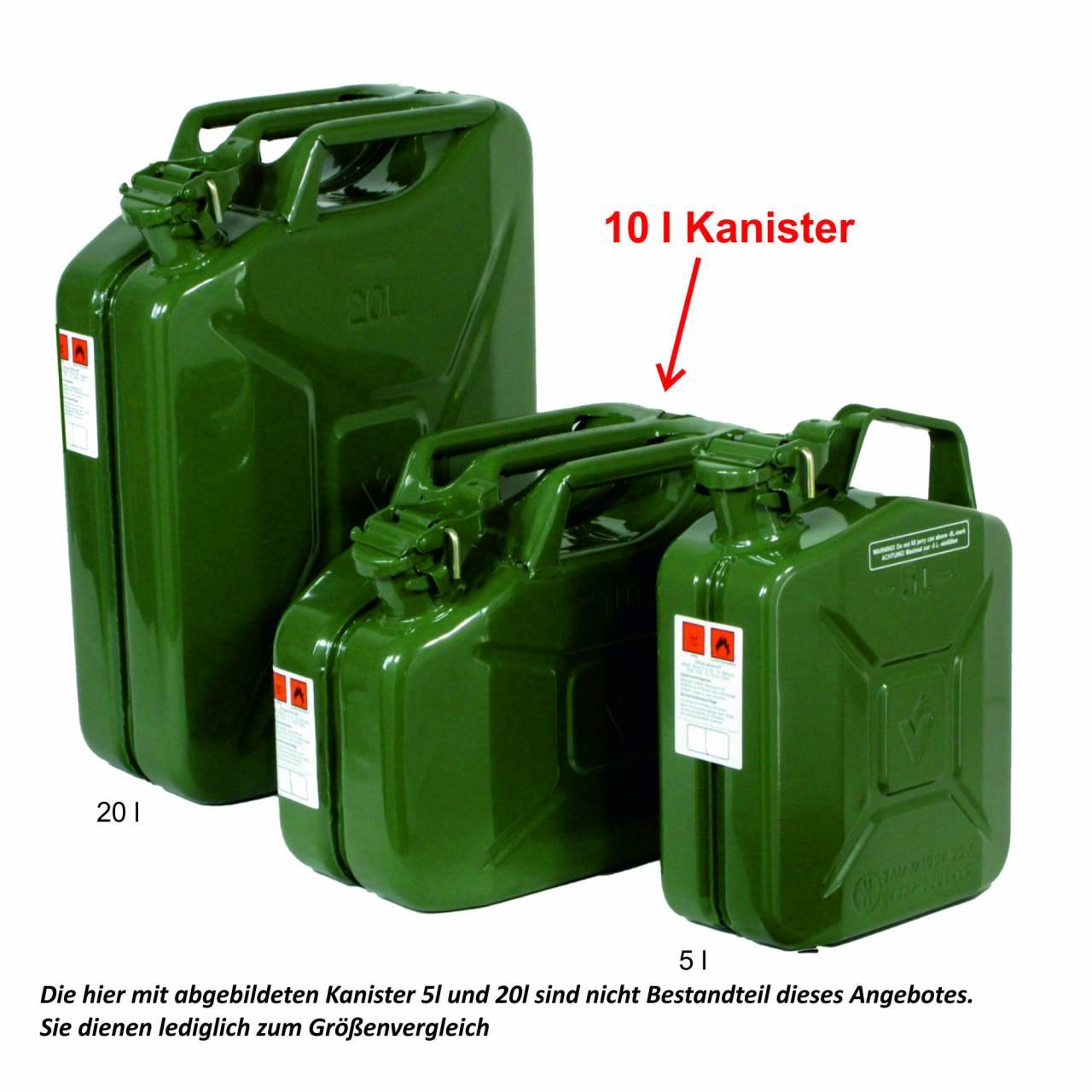 Benzinkanister 10 Liter, TÜV-Bauartprüfung/UN-Zulassung