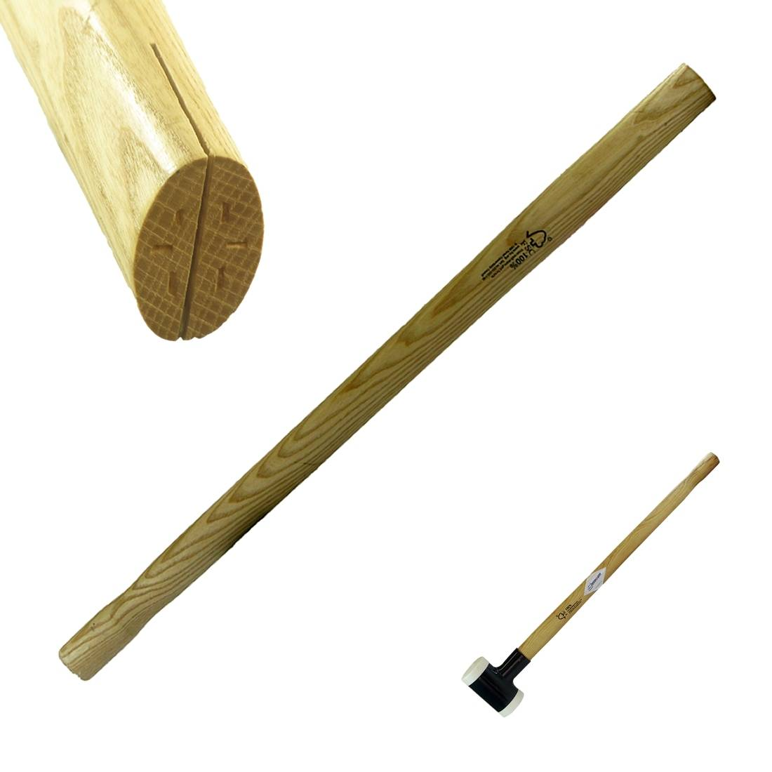 Schonhammer-Stiel 800 mm, Esche