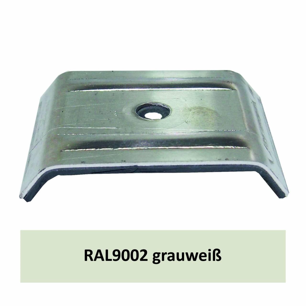 Kalotten für 35/207, Alu RAL9002 grauweiß / Pck a 100 Stück