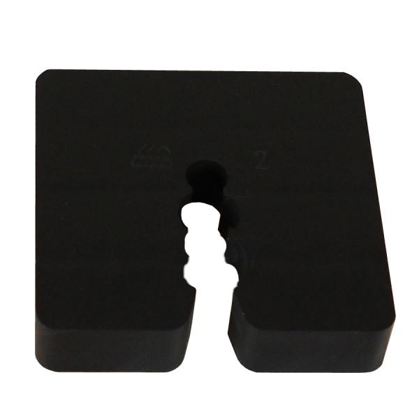Distanzstück / Abstandhalter schwarz 10 mm / Btl a 100 Stück