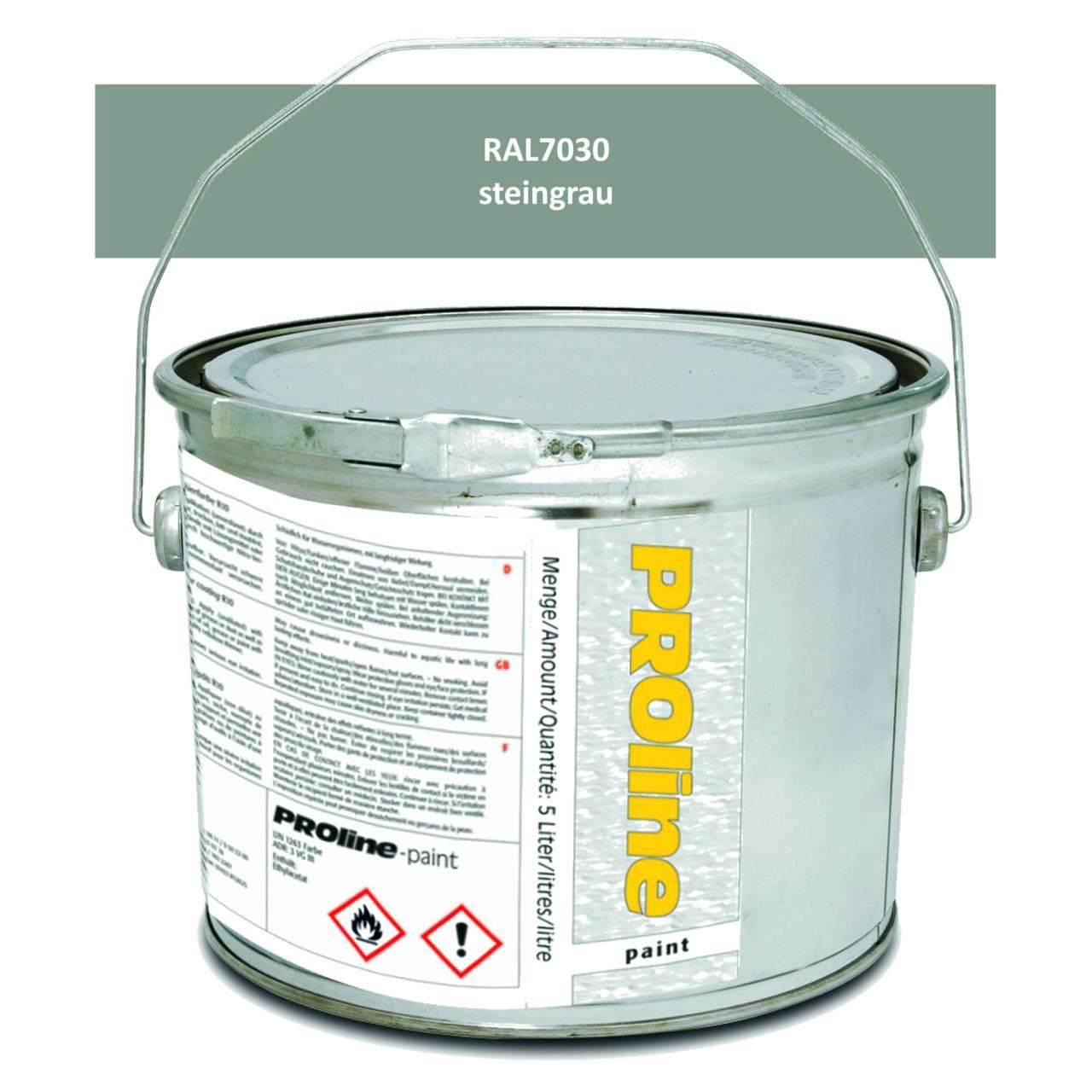 Antirutsch-Markierfarbe 'PROline-paint' STEINGRAU / Eimer a 5,0 Liter