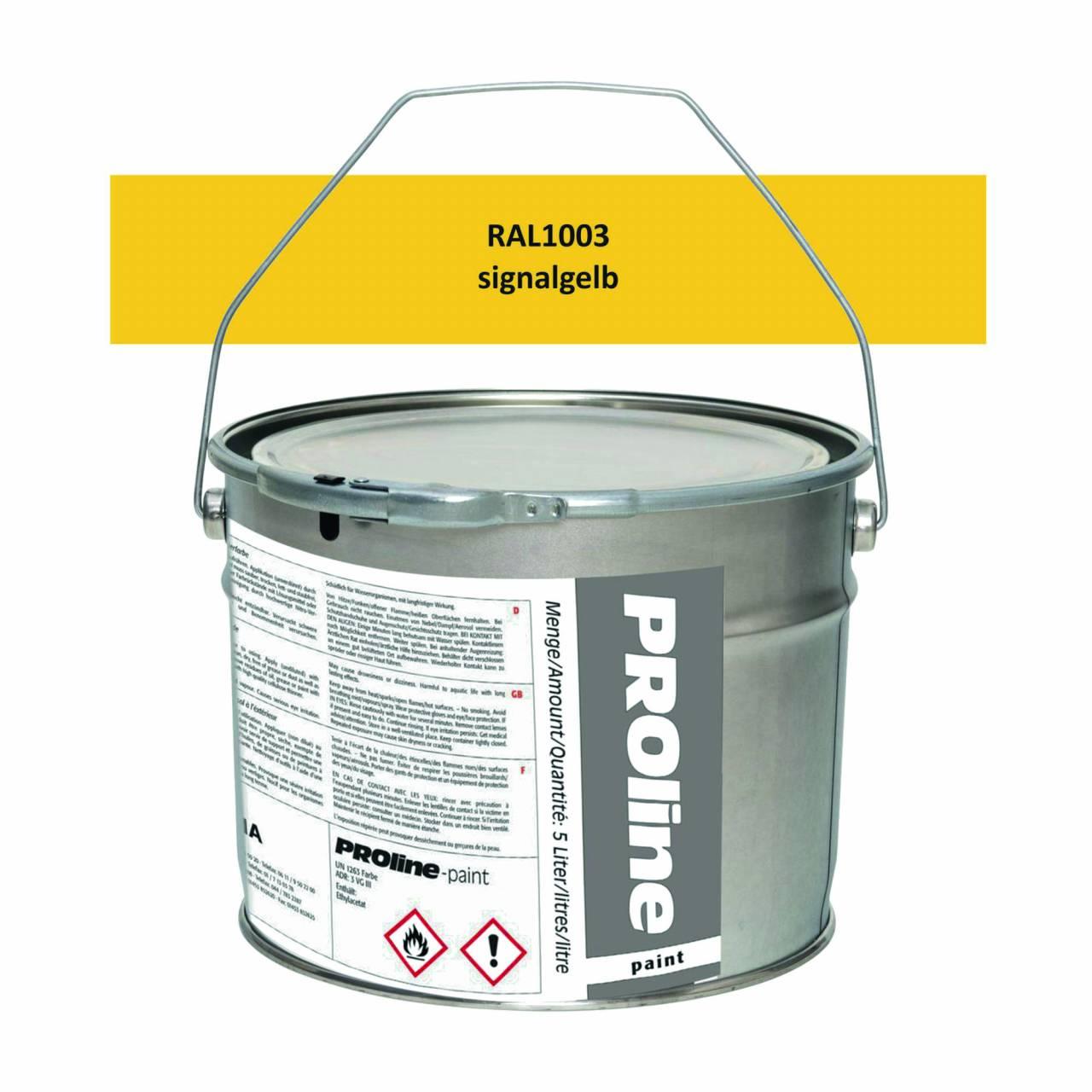 Aussen-Markierfarbe 'PROline-paint' GELB / Eimer a 5,0 Liter