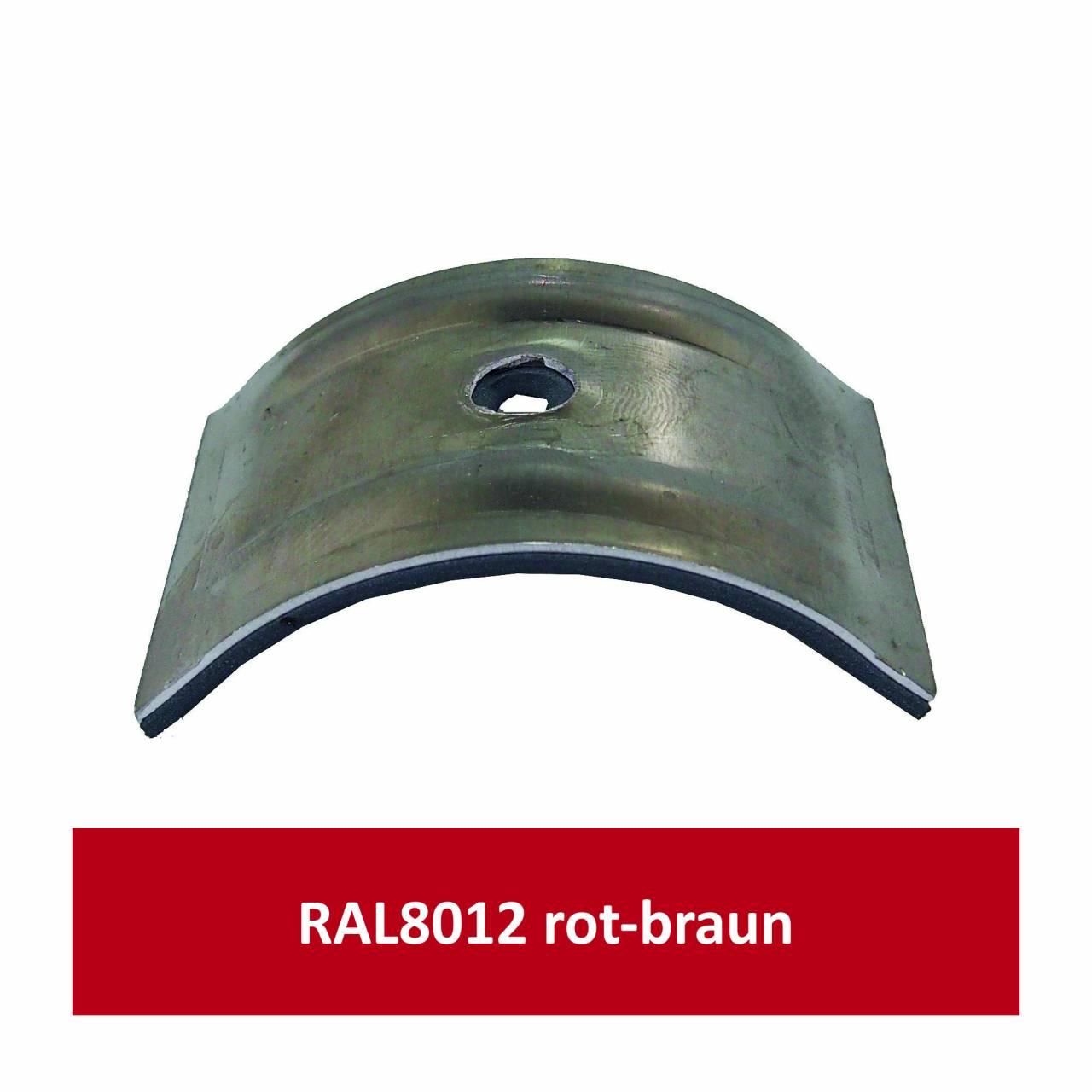 Kalotten für Welle 150/50, Alu RAL8012 rotbraun/ Pck a 100 Stück