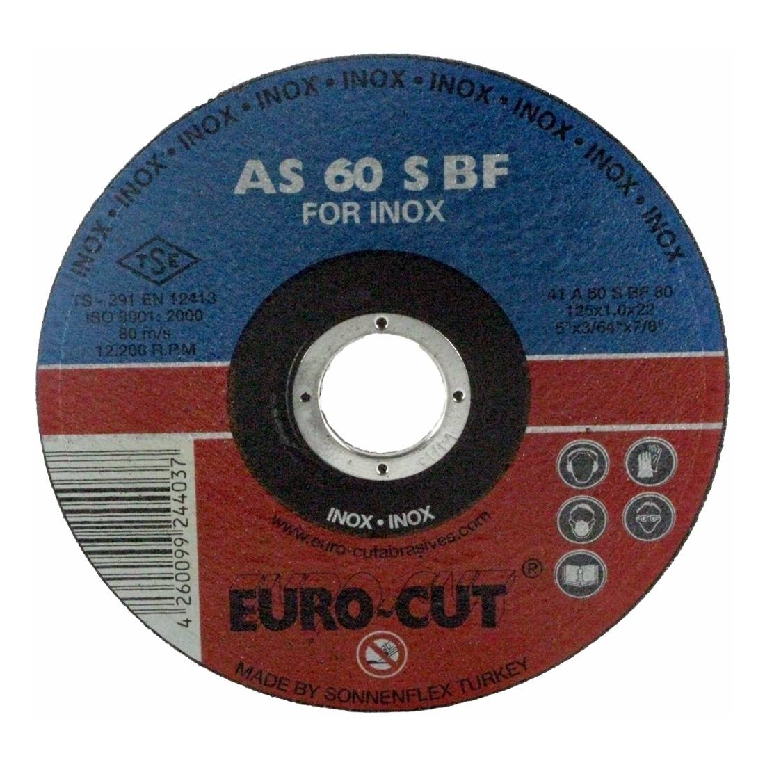 Edelstahl-Trennscheibe 'Euro Cut' 125 x 22,2 x 1,0 mm, gerade