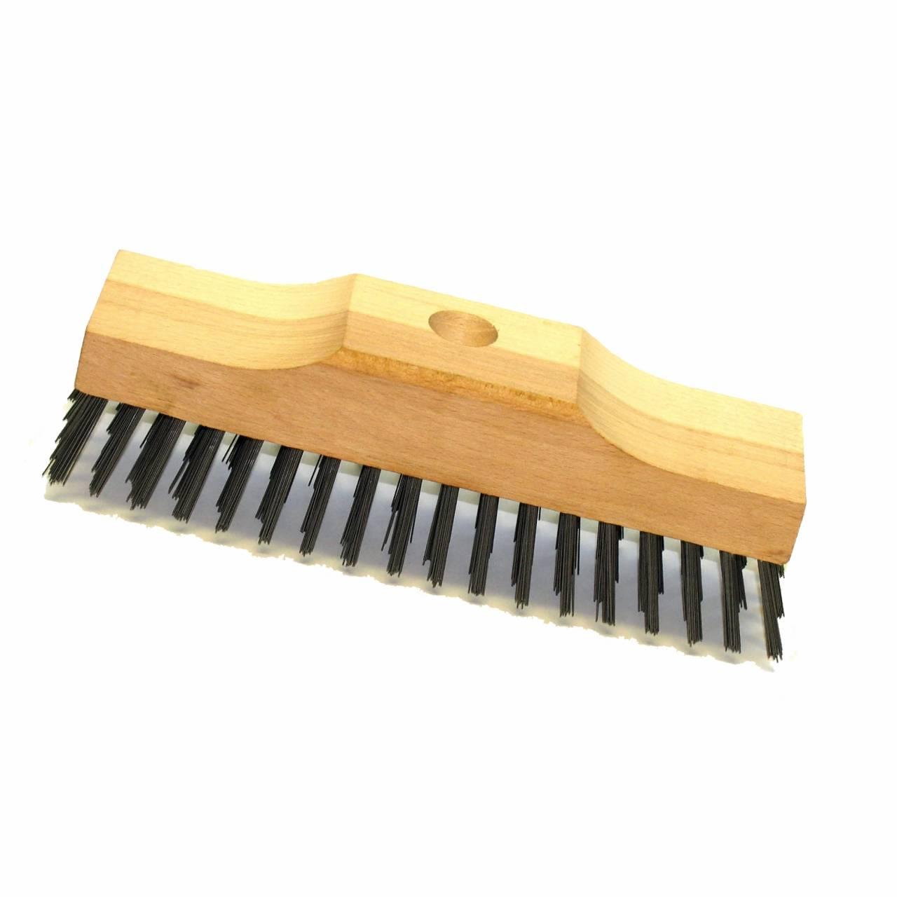 Stahldraht-Schrubber 220 x 60 x 75 mm, 6-reihig, ohne Stiel