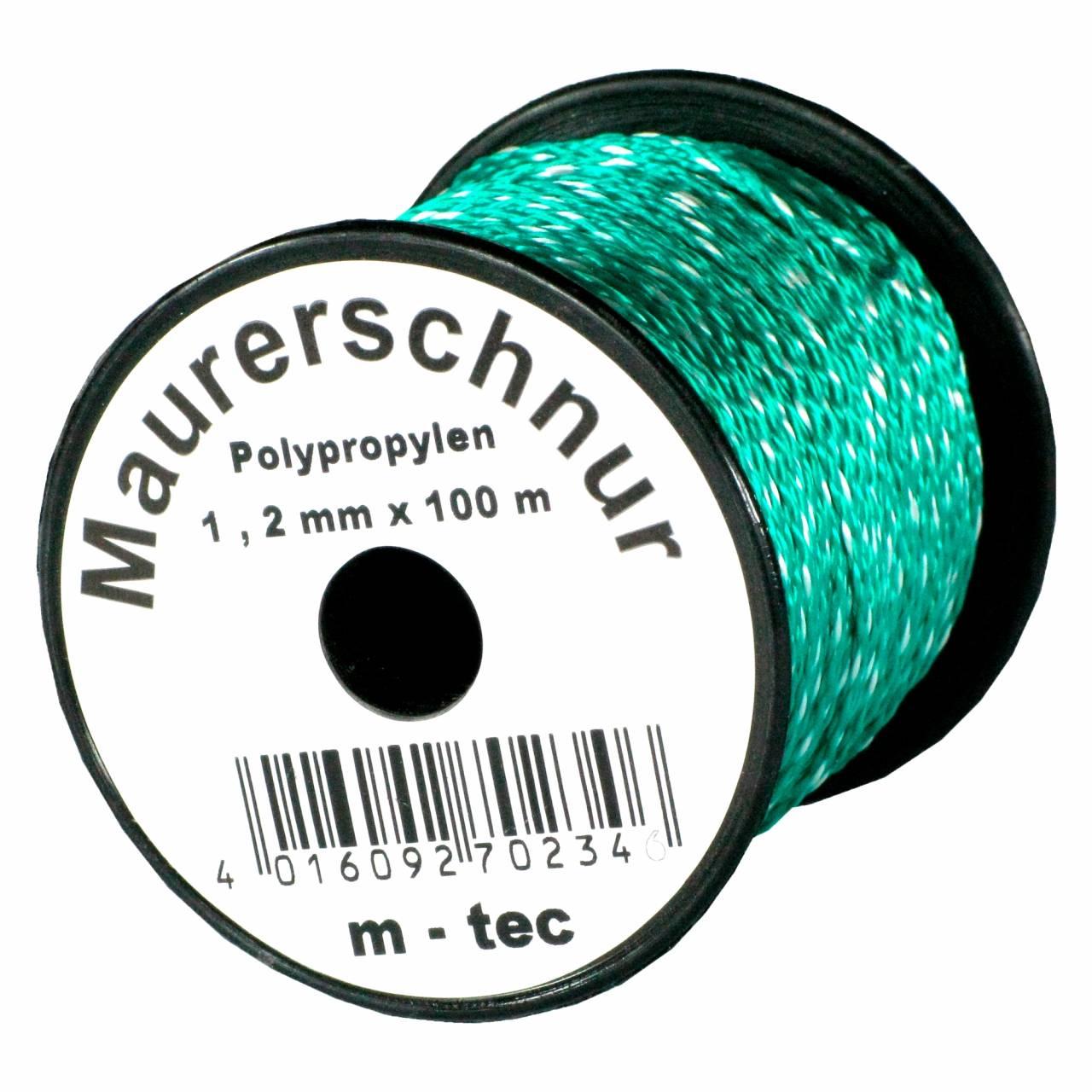 Lot-Maurerschnur 100 m x Ø 1,2 mm Grün-Weiss