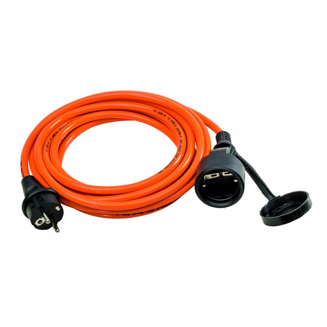 PUR-Verlängerungskabel H07BQ-F 3G1,5 / 230V, 16A, orange, 10,0 m