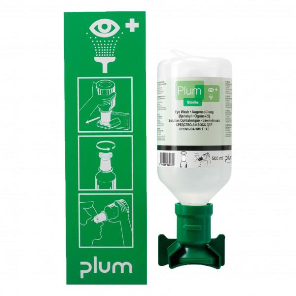 Plum® Augenspülstation / inkl 1 Flasche 500 ml Nc