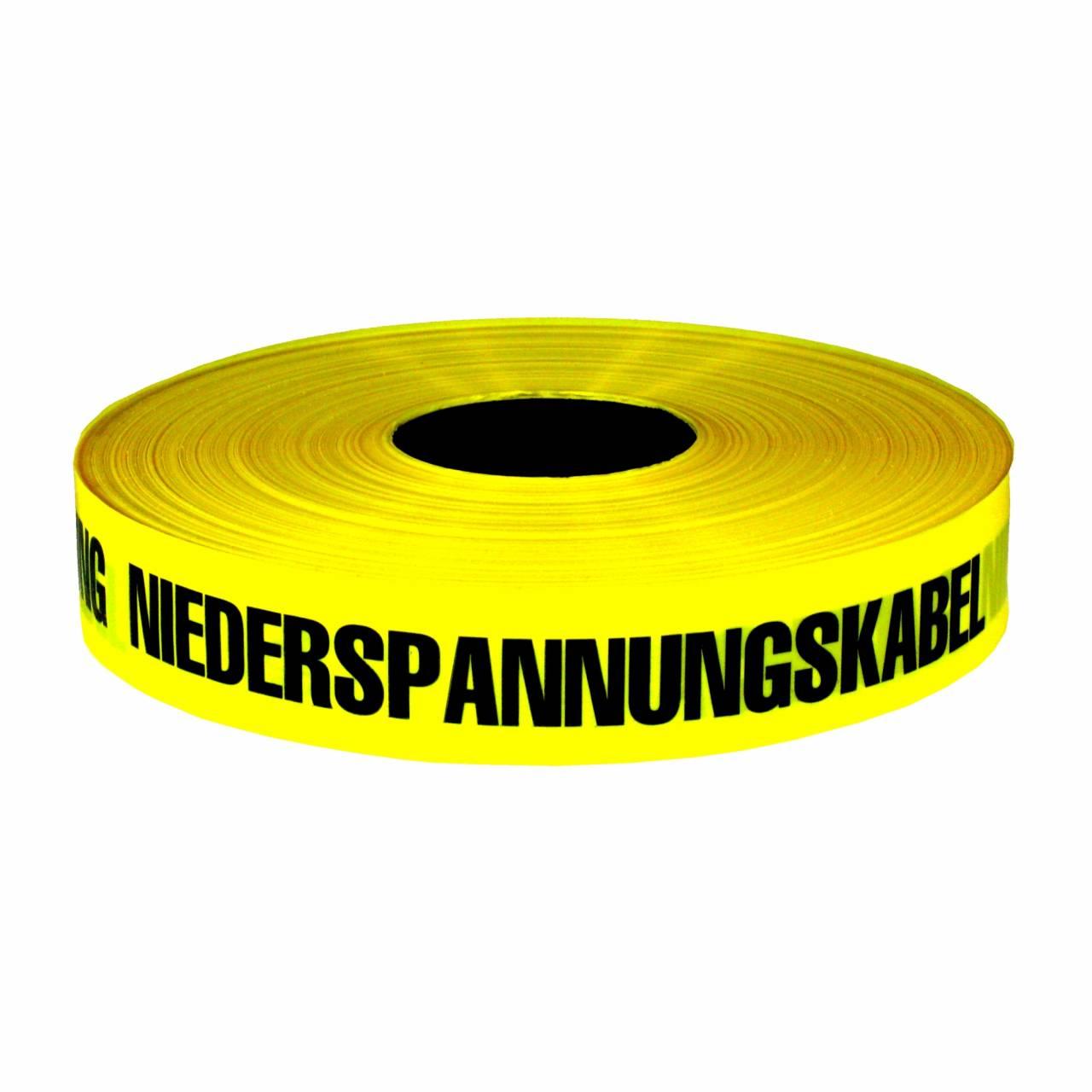 Trassenwarnband 'Achtung Niederspannung' / Rolle 40 mm x 250 m