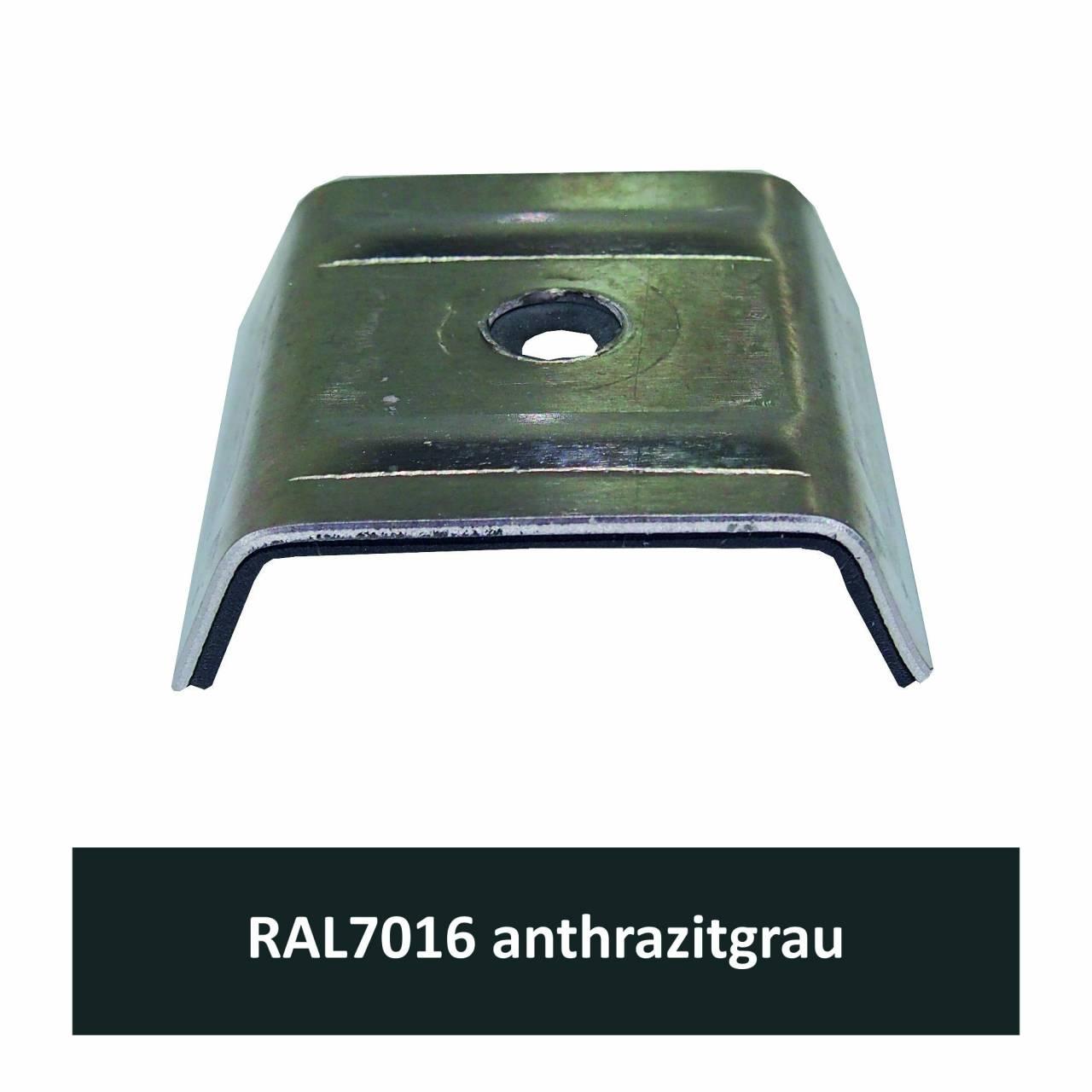 Kalotten für Kingspan, Alu RAL7016 anthrazitgrau / Pck a 100 Stück