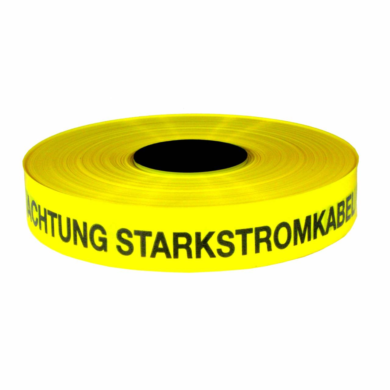 Trassenwarnband 'Achtung Starkstrom' / Rolle 40 mm x 250 m