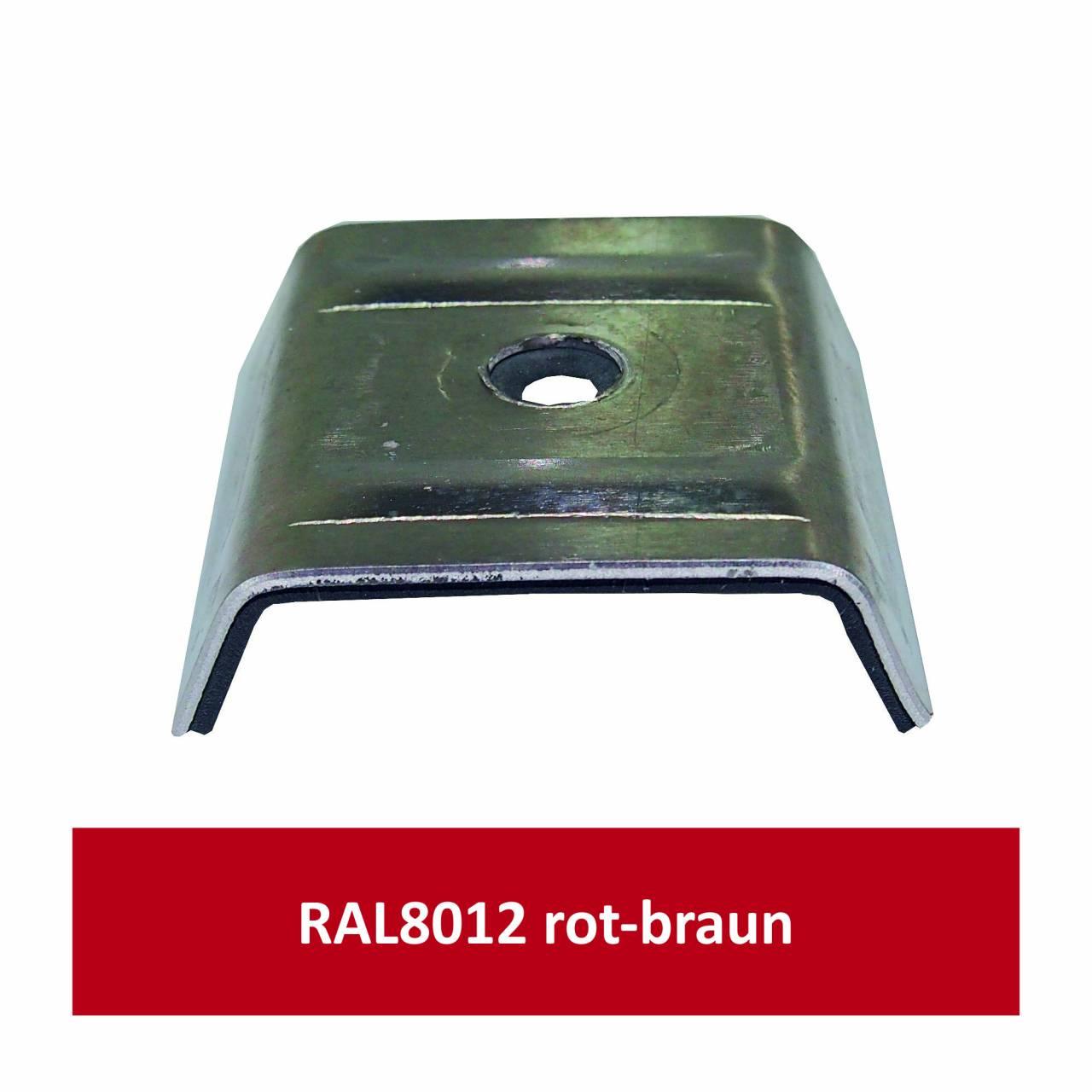 Kalotten für Kingspan, Alu RAL8012 rotbraun/ Pck a 100 Stück