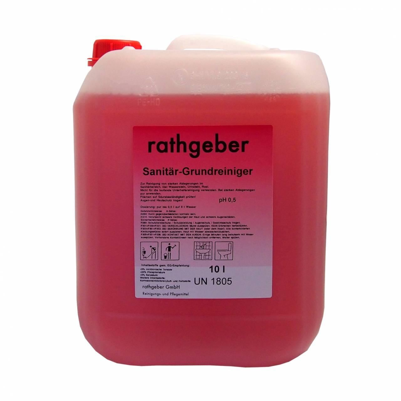 Sanitär-Grundreiniger / 10,0 L PE-Kanister