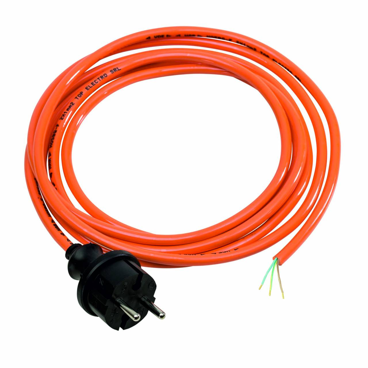 PUR-Anschlussleitung, orange, 230V, H07BQ-F 3G1,0 / 3 m