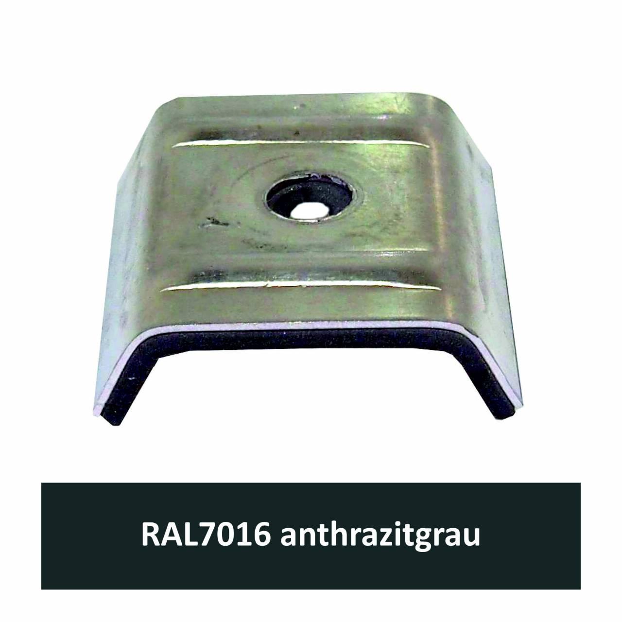 Kalotten für N1000T, Alu RAL7016 anthrazitgrau / Pck a 100 Stück
