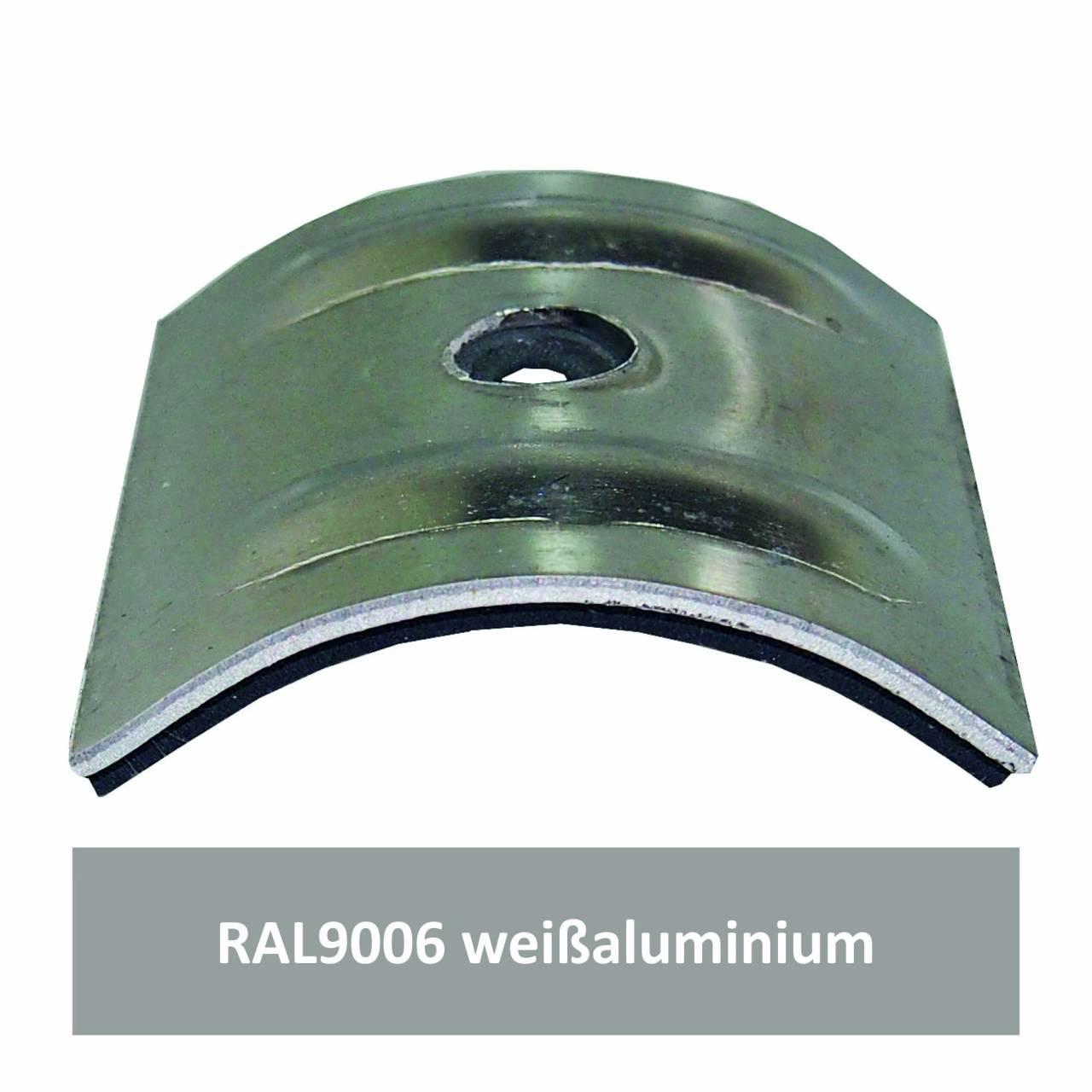 Kalotten für Welle 18/76, Alu RAL9006 weißaluminium / Pck a 100 Stück