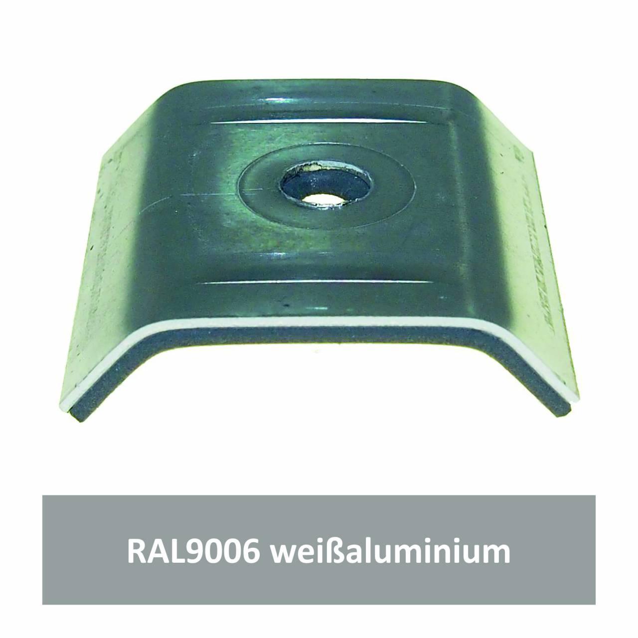 Kalotten für 39/333, Alu RAL9006 weißaluminium / Pck a 100 Stück