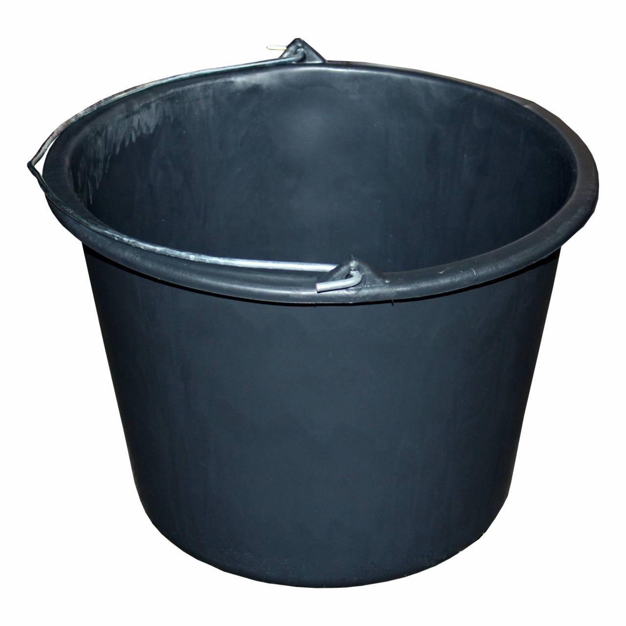 Bau-Eimer 12,0 l, Ø 31,5 cm, 'Profi', schwarz, Skalierung, leicht