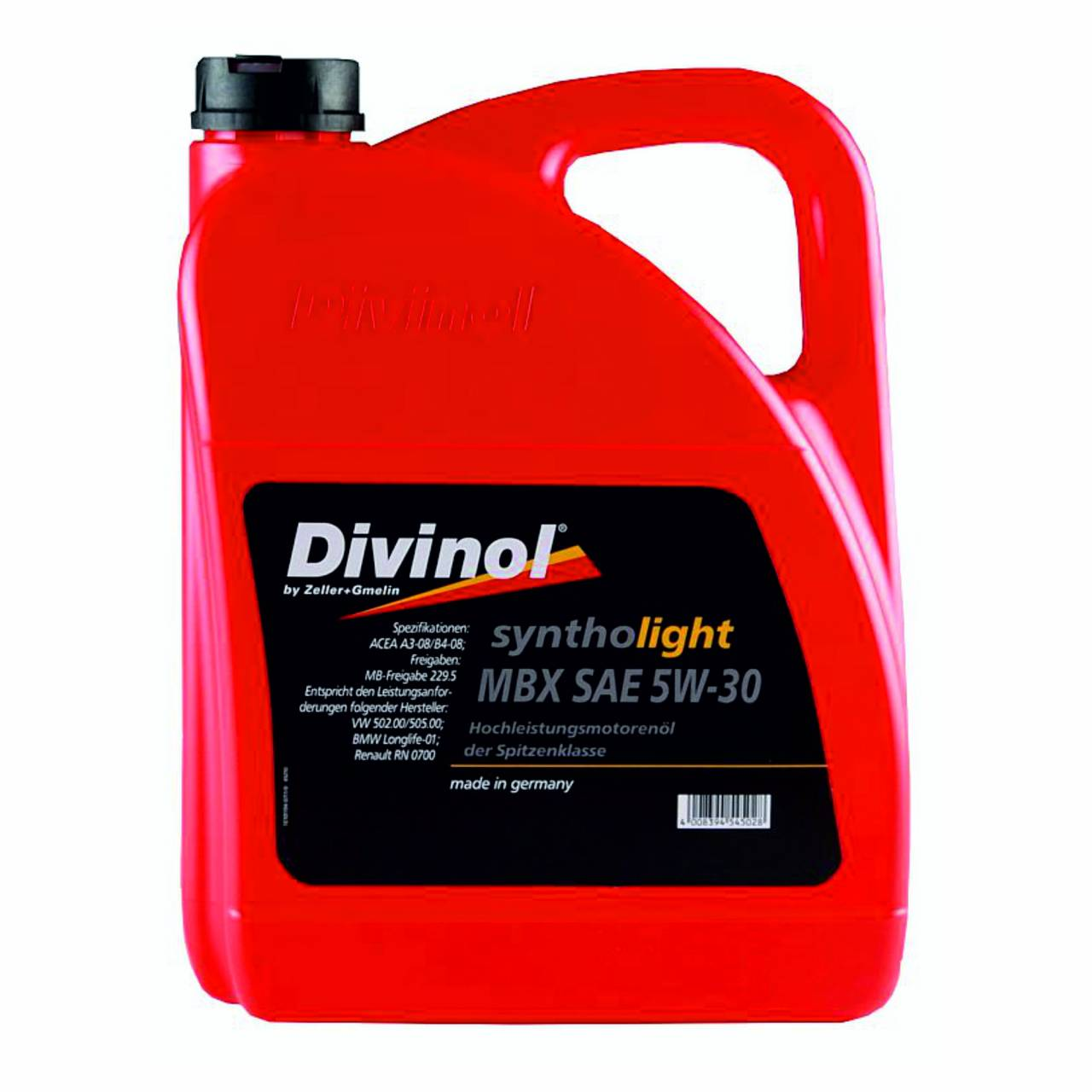 Motorenöl 'Divinol' Syntholight MBX 5W-30 / 5,0 Liter Kanister