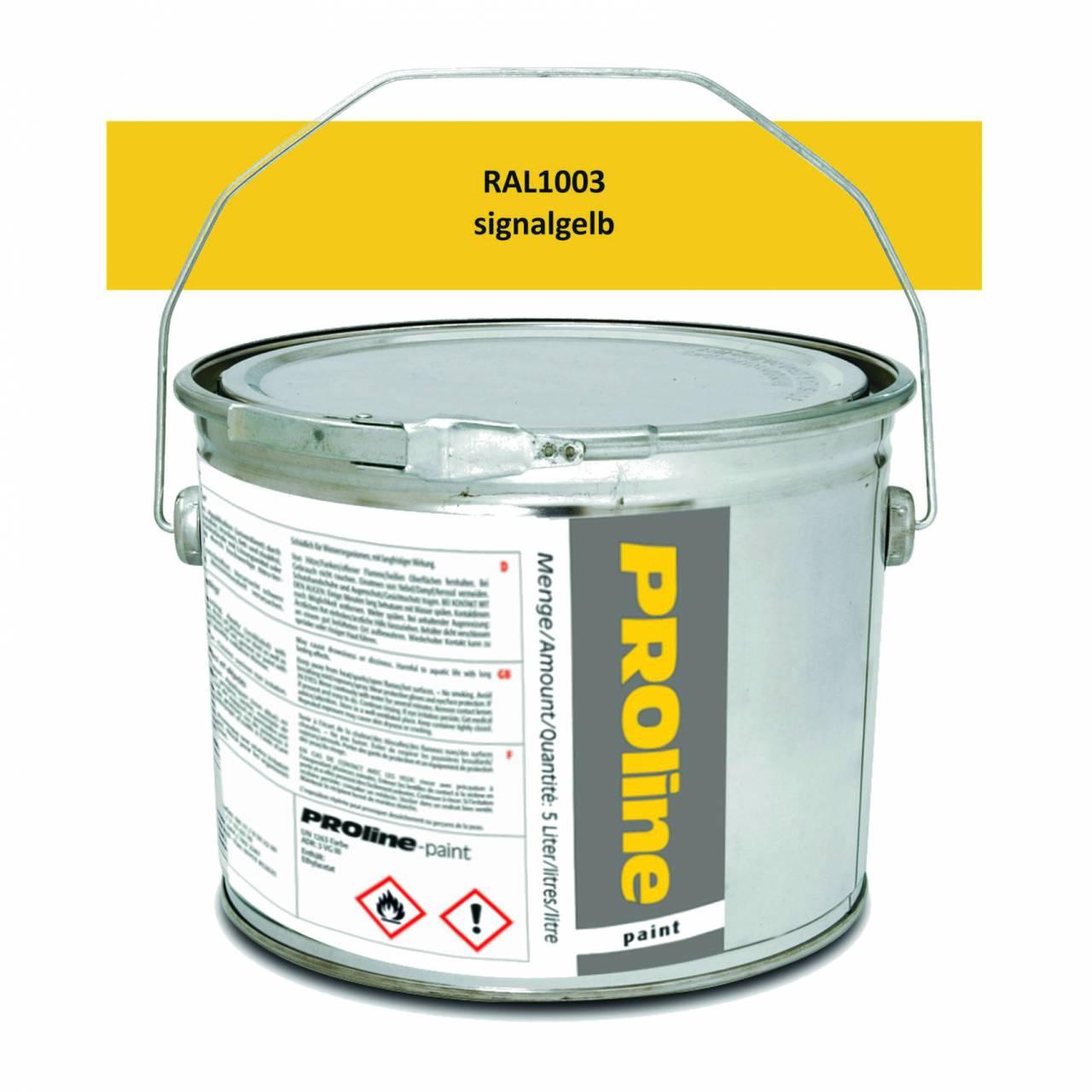 Hallen-Markierfarbe 'PROline-paint' GELB / Eimer a 5,0 Liter