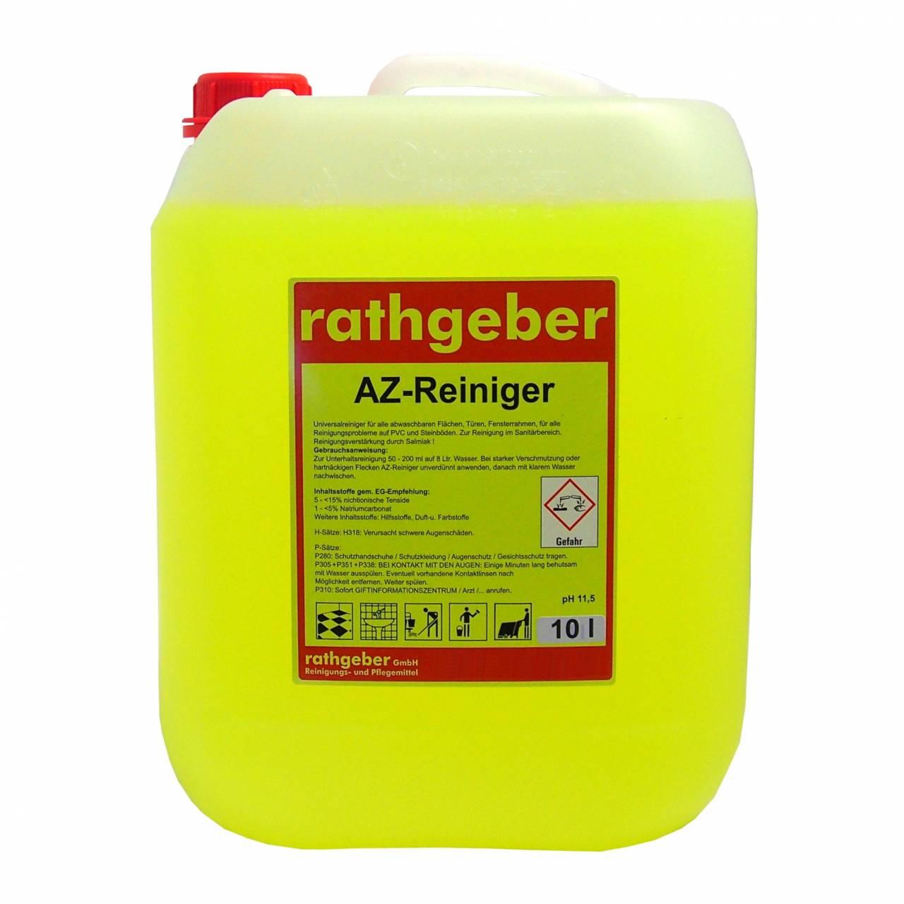 Az-Reiniger 'gelb' 10,0 l PE-Flasche
