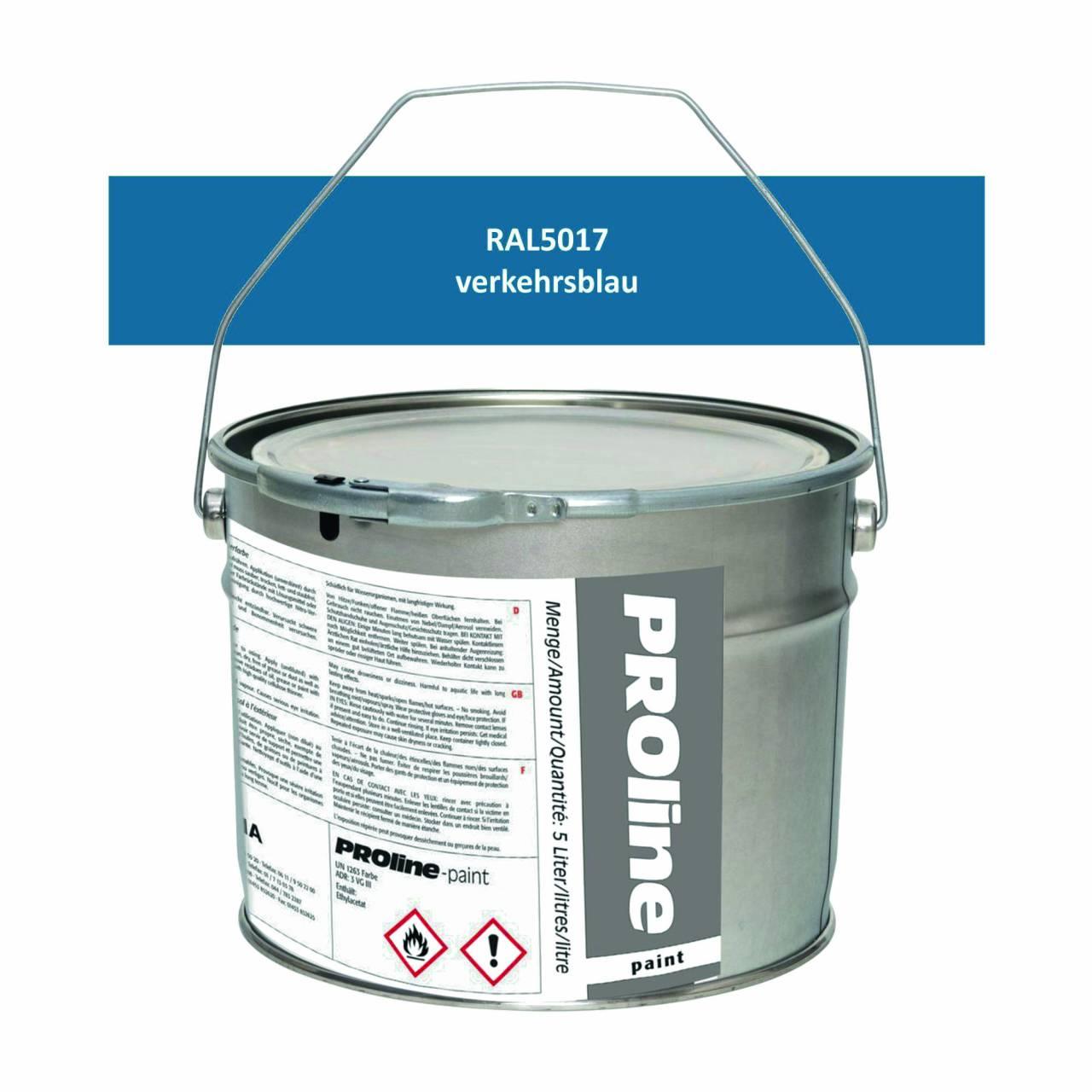 Aussen-Markierfarbe 'PROline-paint' BLAU / Eimer a 5,0 Liter