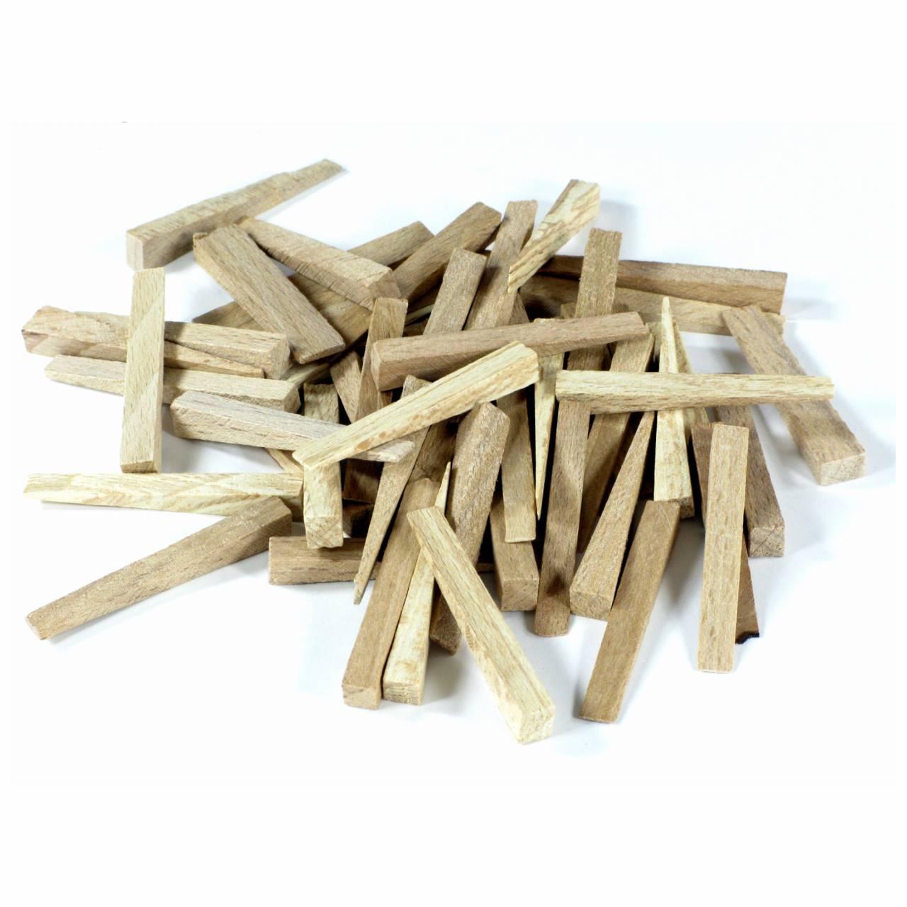 Fliesenkeile Holz 54,0 x 7,0 x 0,0-8,0 mm / Btl a 500 Stück