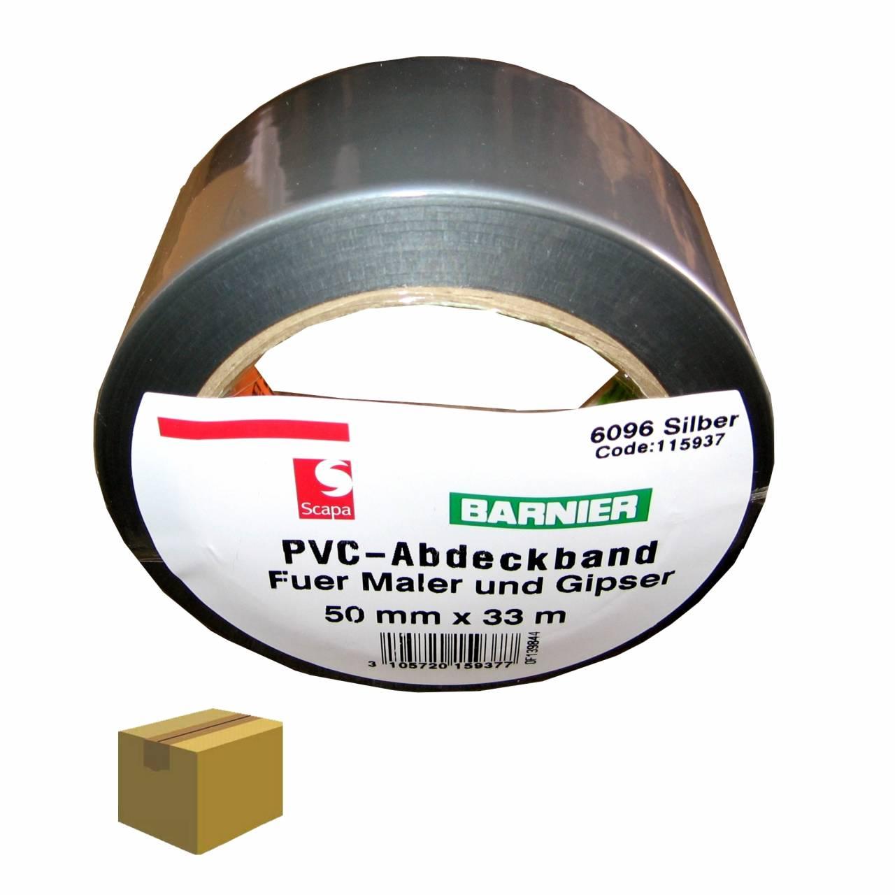 Barnier® 6096 PVC-Band 50 mm x 33 m silber / Krt a 36 Rollen