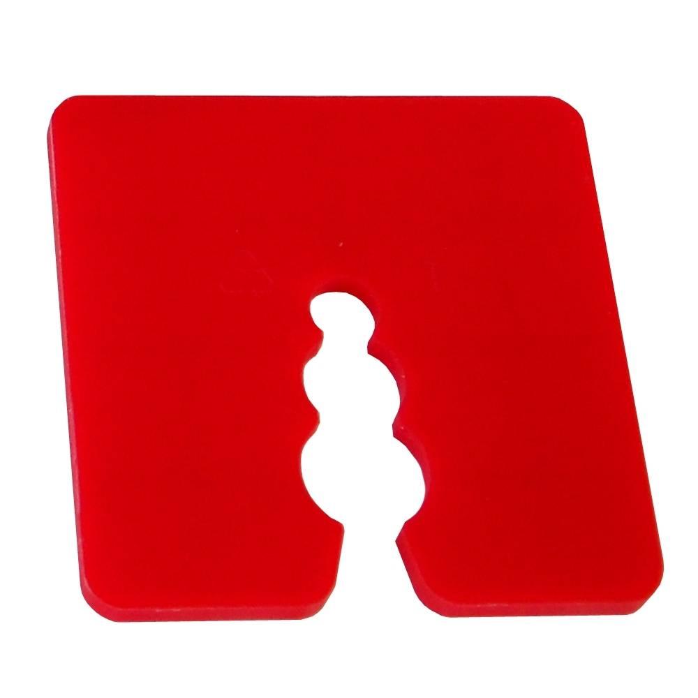 Distanzstück / Abstandhalter rot 3 mm / Btl a 100 Stück