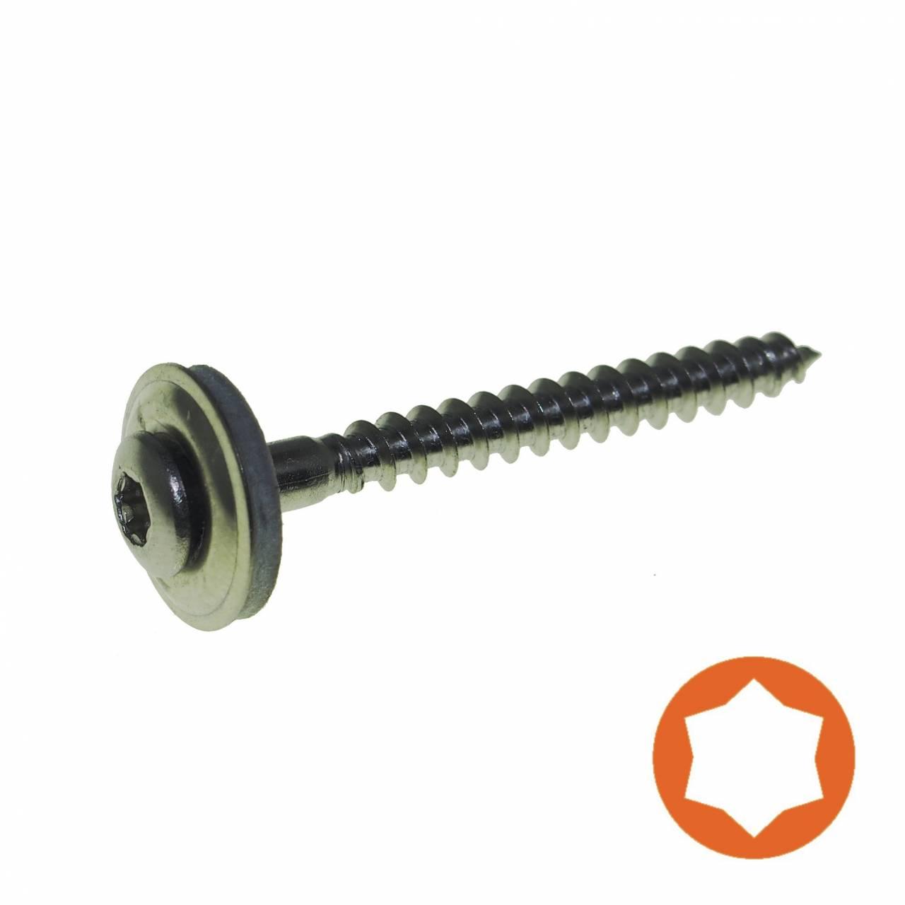 Spenglerschraube A2 4,5 x 25 mm, Scheibe Ø 15 mm / Pck a 100 Stück