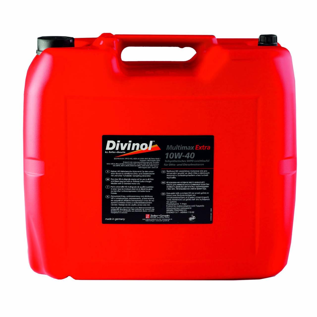 Motorenöl 'Divinol' Multimax Extra 10W-10 / 20,0 Liter Kanister