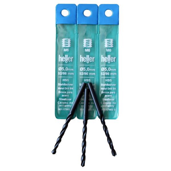 HSS-R-Spiralbohrer 'Heller' Ø 6,5 x 63 x 101 mm
