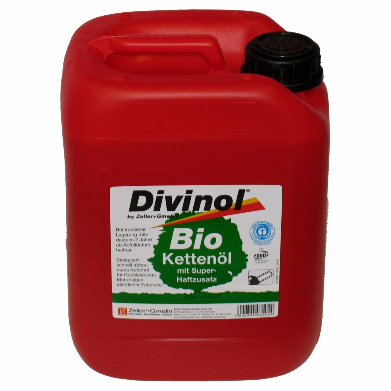 Bio-Sägekettenöl R 'Divinol' / 20,0 l Kanister
