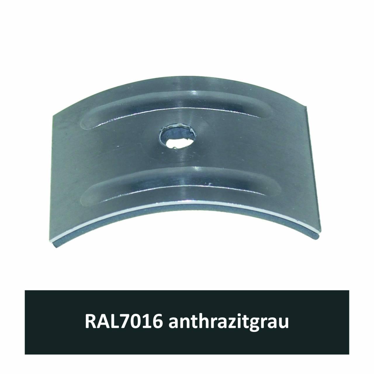 Kalotten für Welle 177/51, Alu RAL7016 anthrazitgrau / Pck a 100 Stück