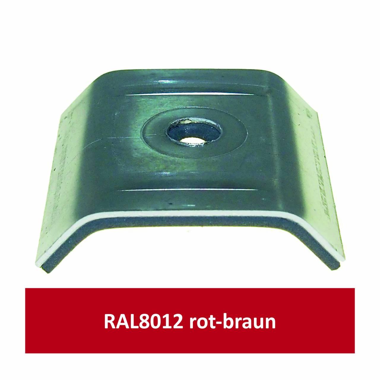 Kalotten für 39/333, Alu RAL8012 rotbraun/ Pck a 100 Stück
