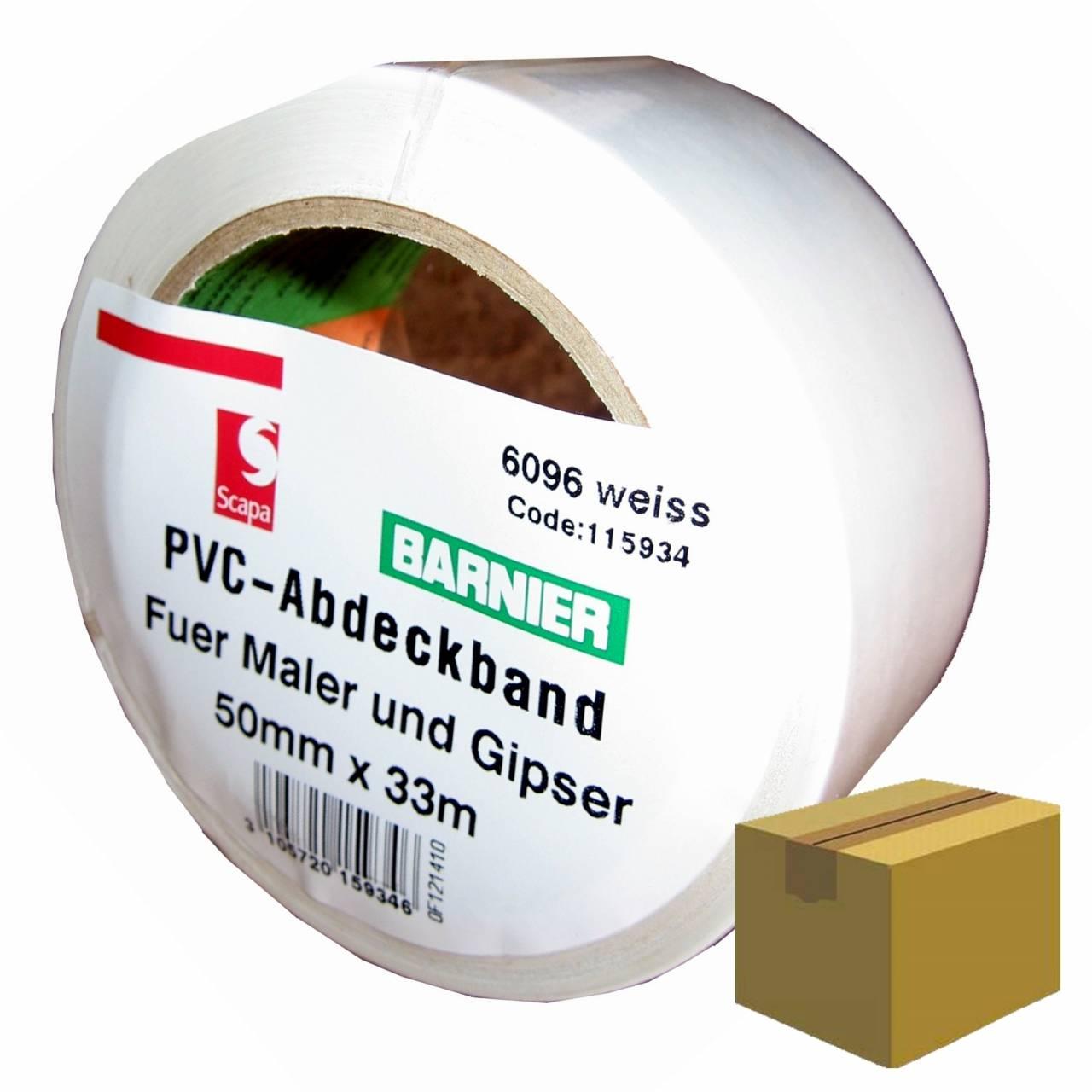 Barnier® 6096 PVC-Band 50 mm x 33 m weiss / Krt a 36 Rollen
