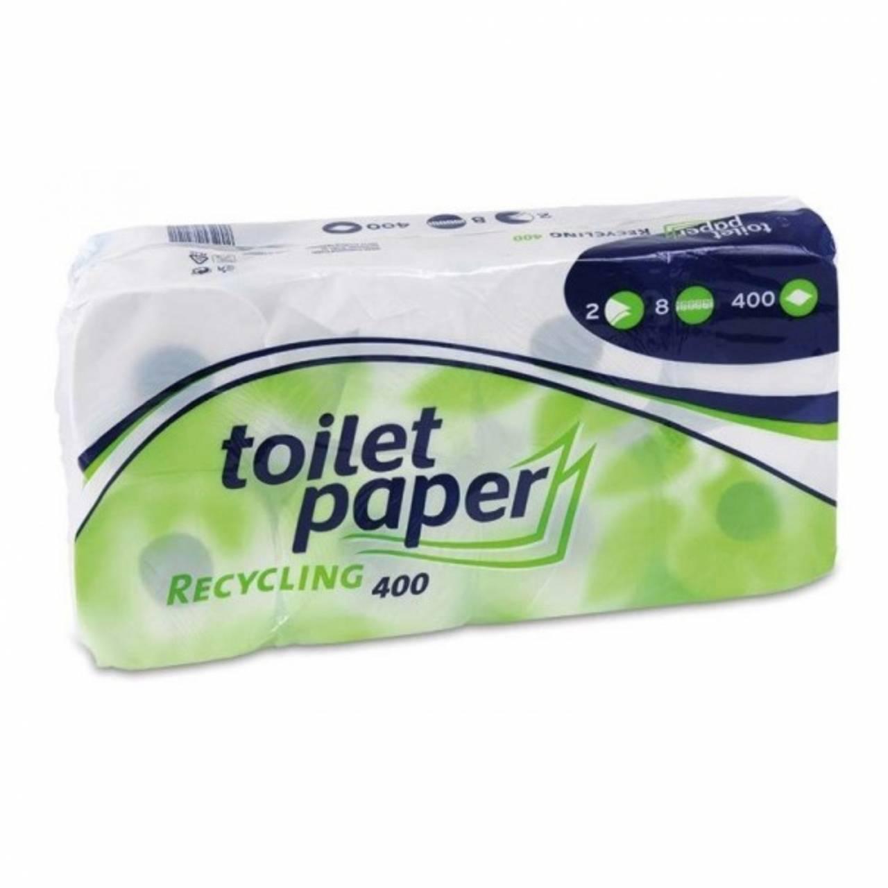 Toilettenpapier 2-Lagig / Pck a 8 Rollen x 400 Blatt