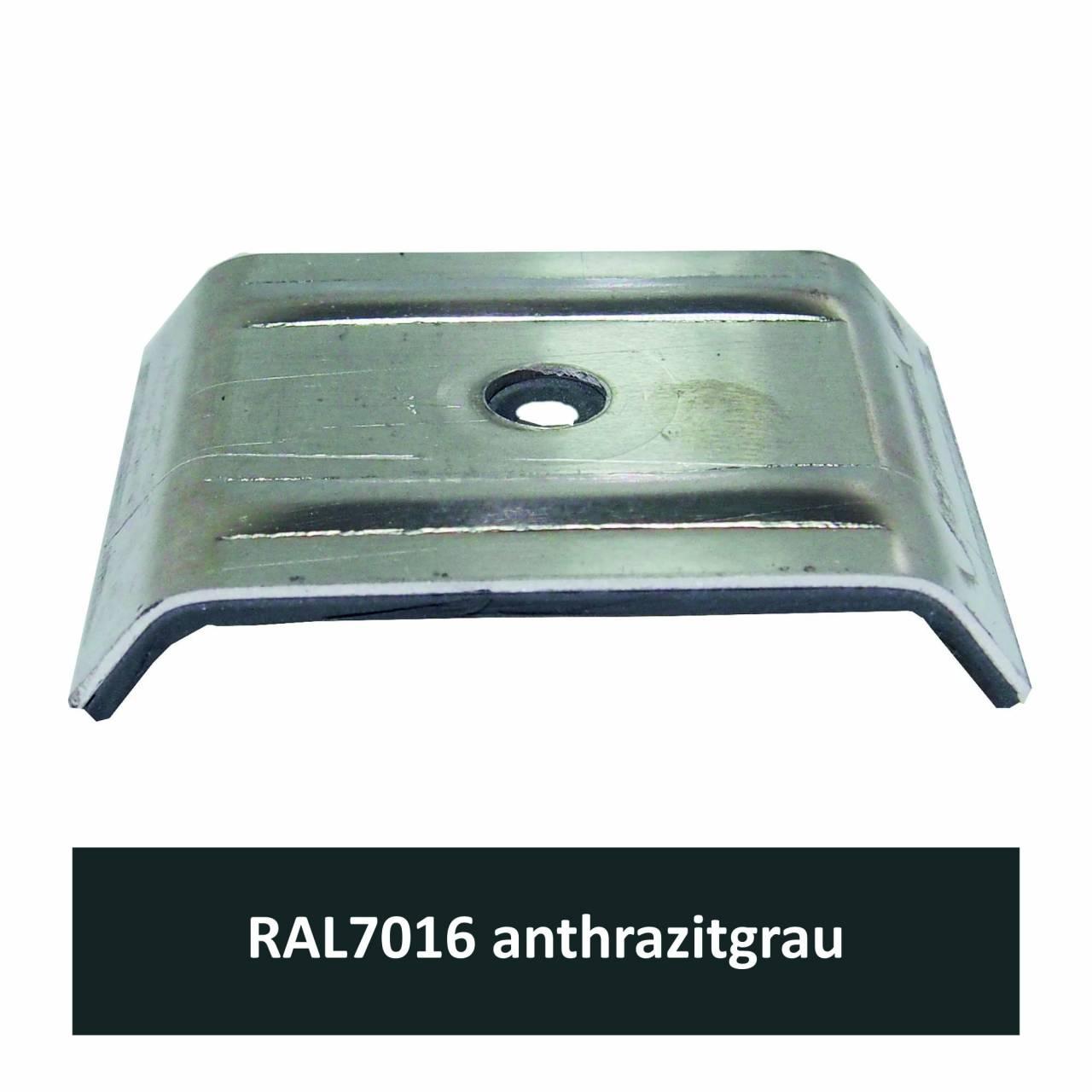 Kalotten für 35/207, Alu RAL7016 anthrazitgrau / Pck a 100 Stück