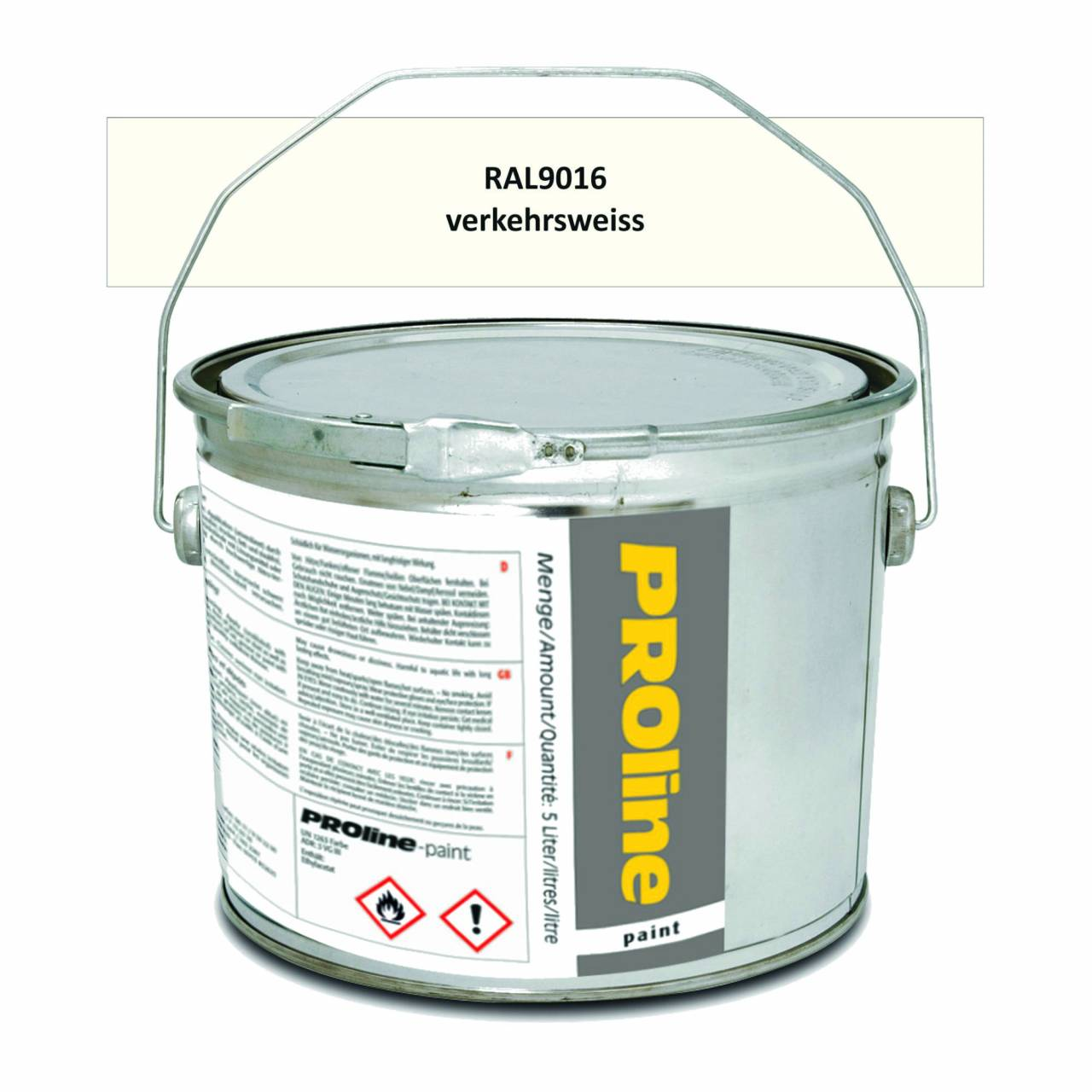 Hallen-Markierfarbe 'PROline-paint' WEISS / Eimer a 5,0 Liter