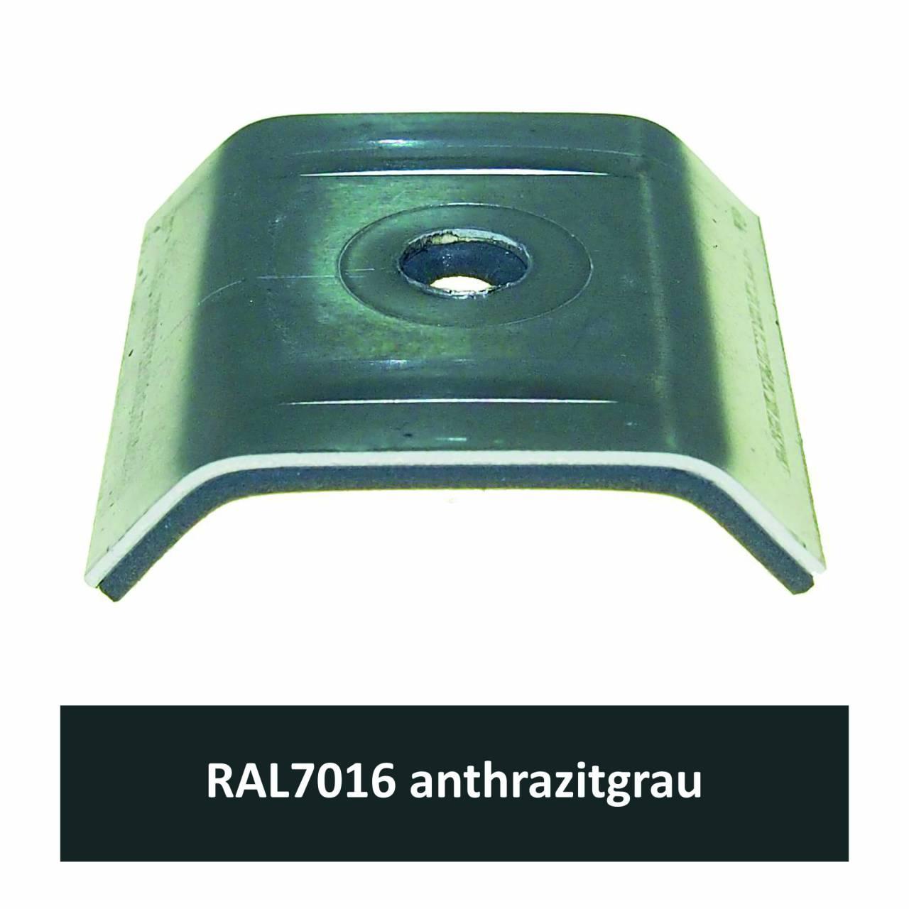 Kalotten für 39/333, Alu RAL7016 anthrazitgrau / Pck a 100 Stück