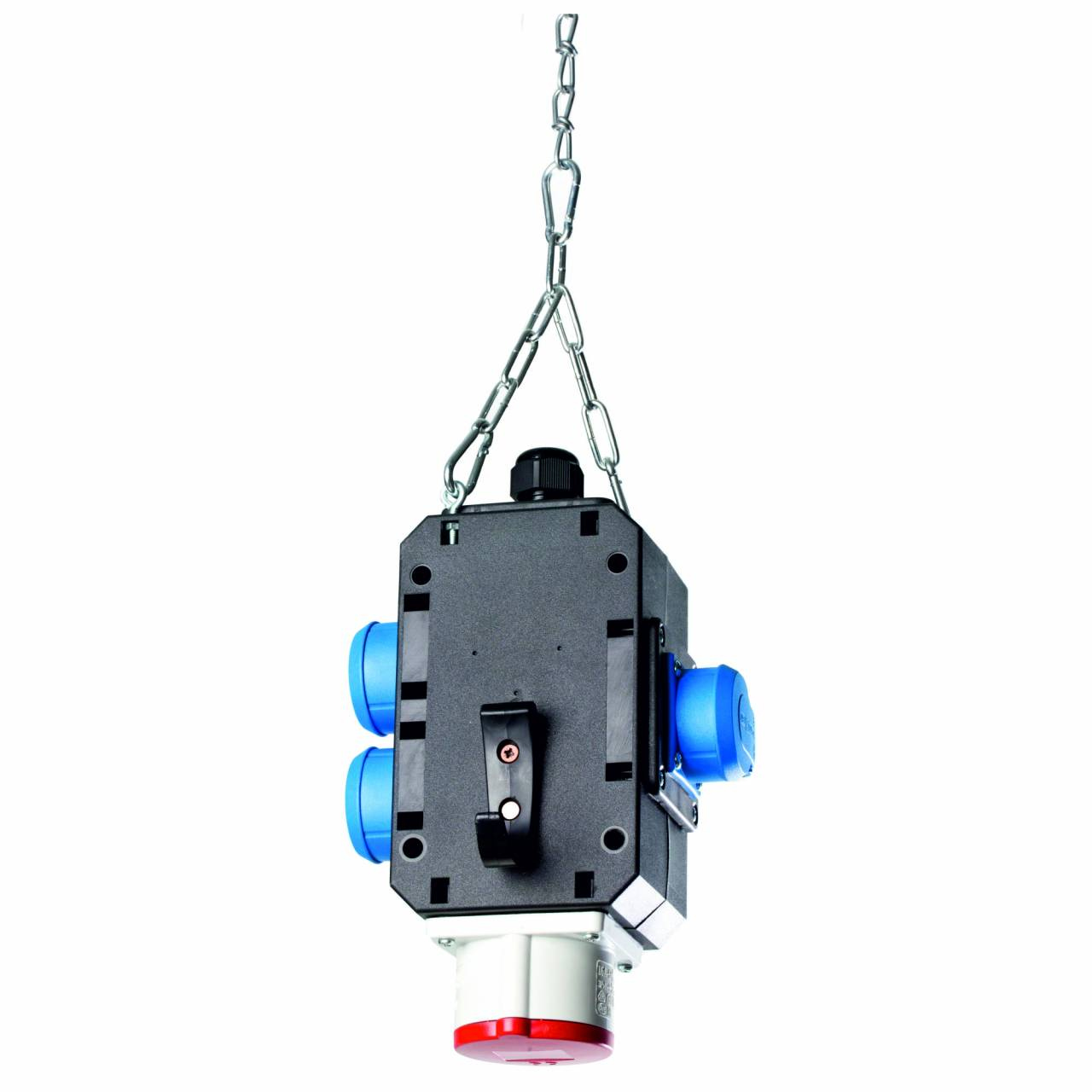 Energiewürfel: 3 x Schuko 230V, 16A + 1 x CEE 400V, 16A
