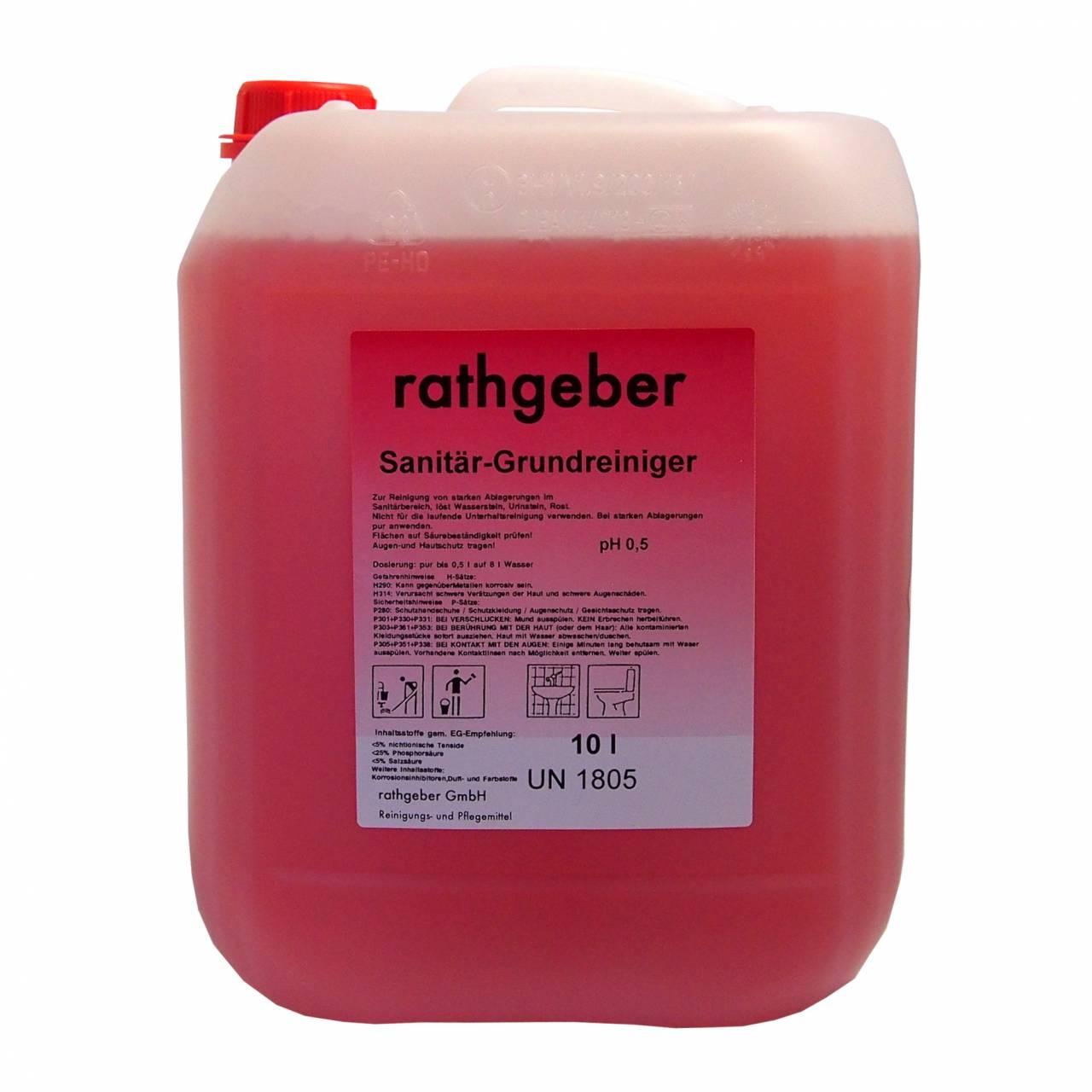 Sanitär-Grundreiniger 'Frischduft' / 10,0 L PE-Kanister