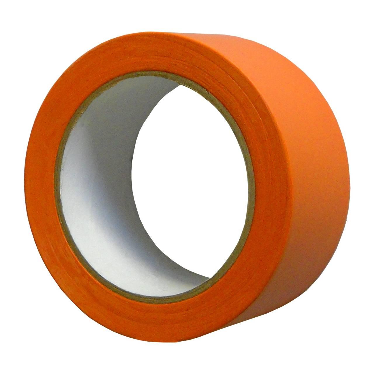 PVC-Band T005 Glatt 50 mm x 33 m orange / Rolle