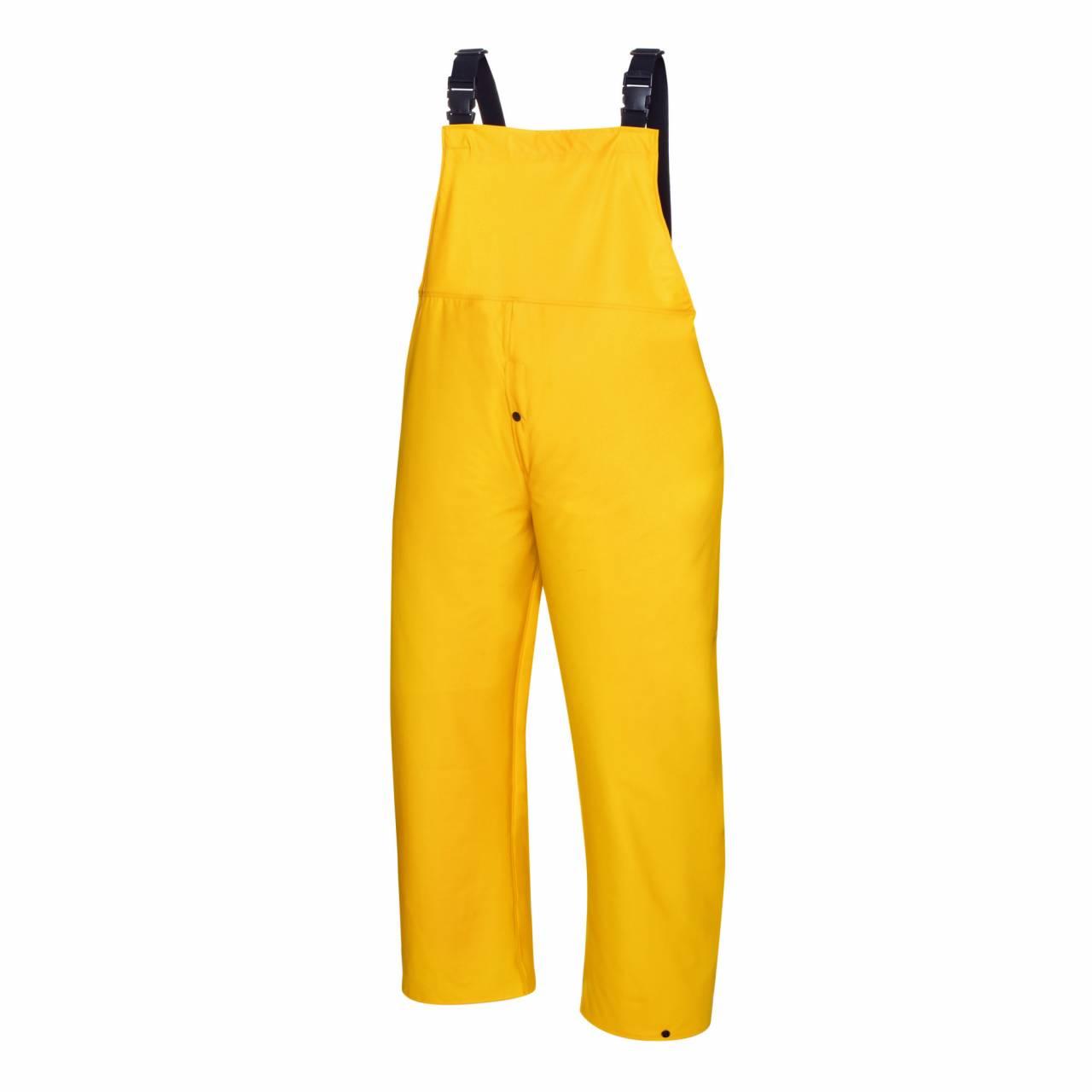 PU-Regenschutz-Latzhose gelb, Gr.XXL