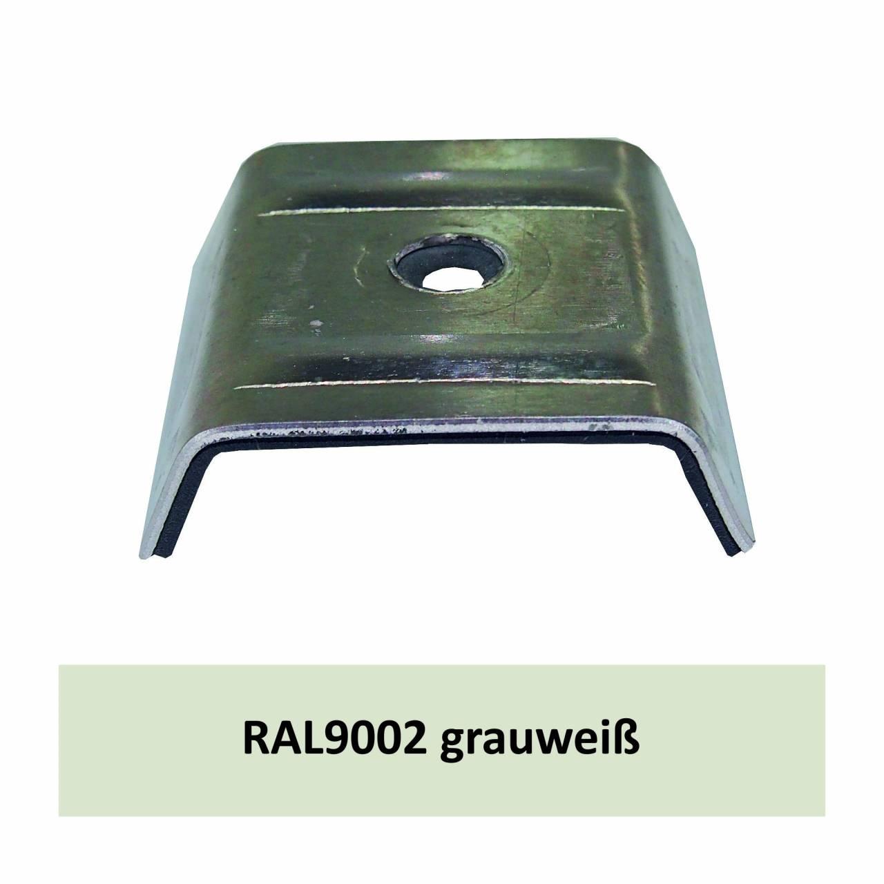 Kalotten für Kingspan, Alu RAL9002 grauweiß / Pck a 100 Stück