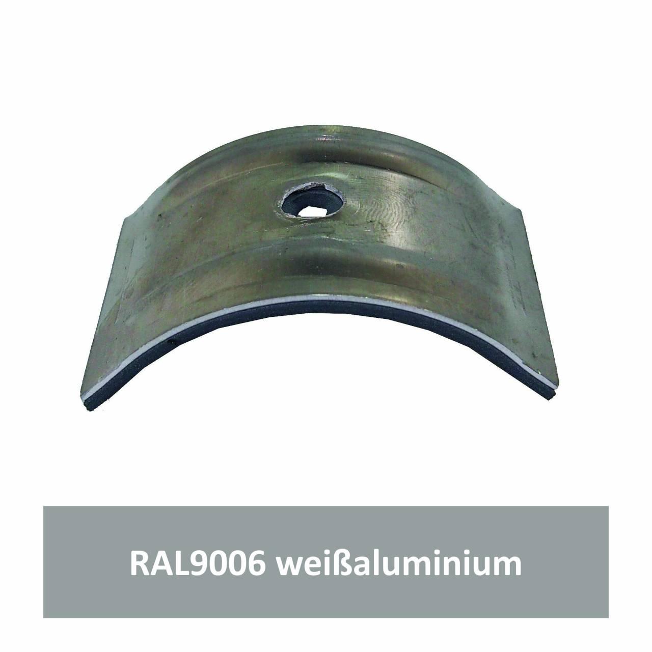 Kalotten für Welle 150/50, Alu RAL9006 weißaluminium / Pck a 100 Stück