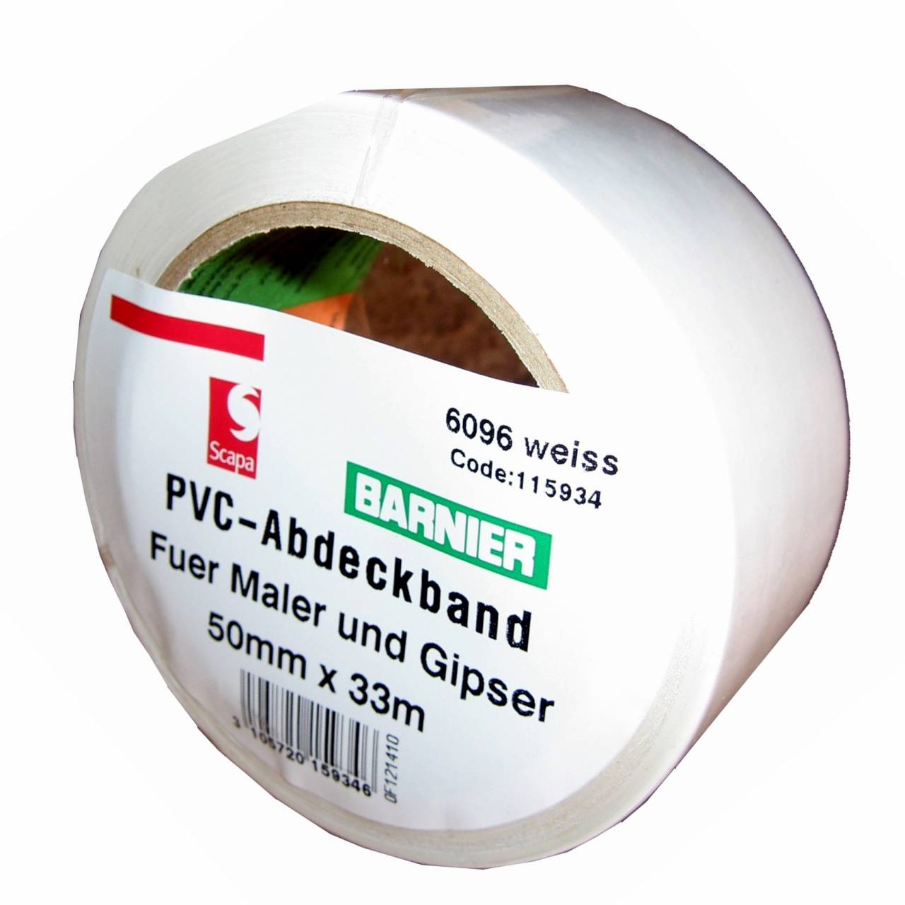 Barnier® 6096 PVC-Band 50 mm x 33 m weiss / Rolle