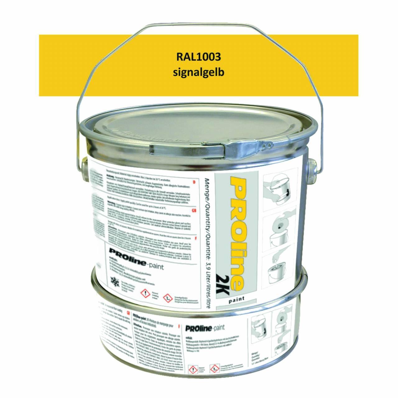 Hallen-Markierfarbe 2K 'PROline-paint' GELB / Gebinde a 5,0 Liter